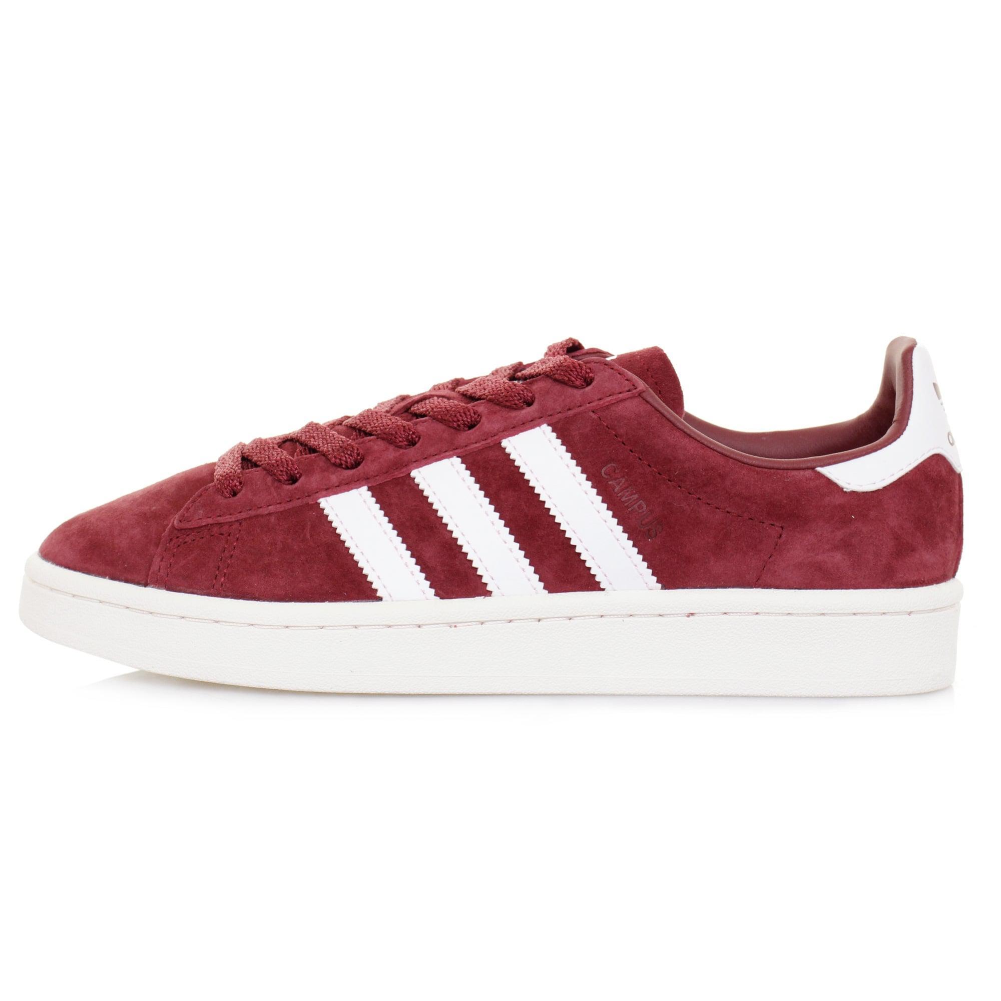 Adidas Originals Adidas Campus Burgundy Shoe In Red For