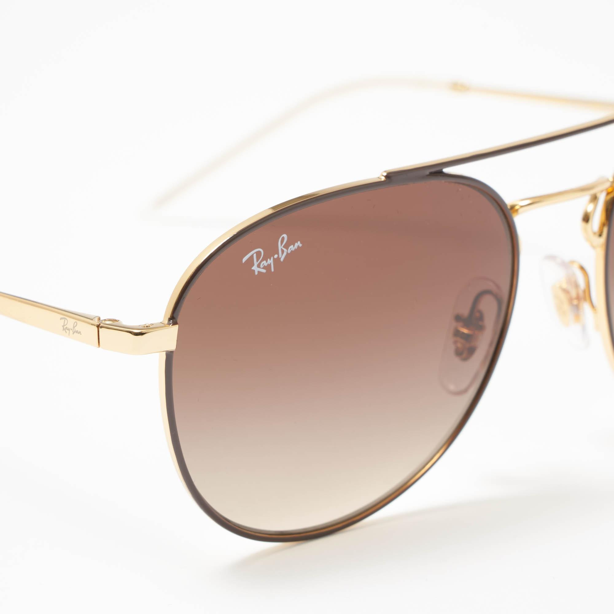 5c3a9bdd03 Ray-Ban Gold Rb3589 Sunglasses - Brown Gradient Lenses in Metallic ...