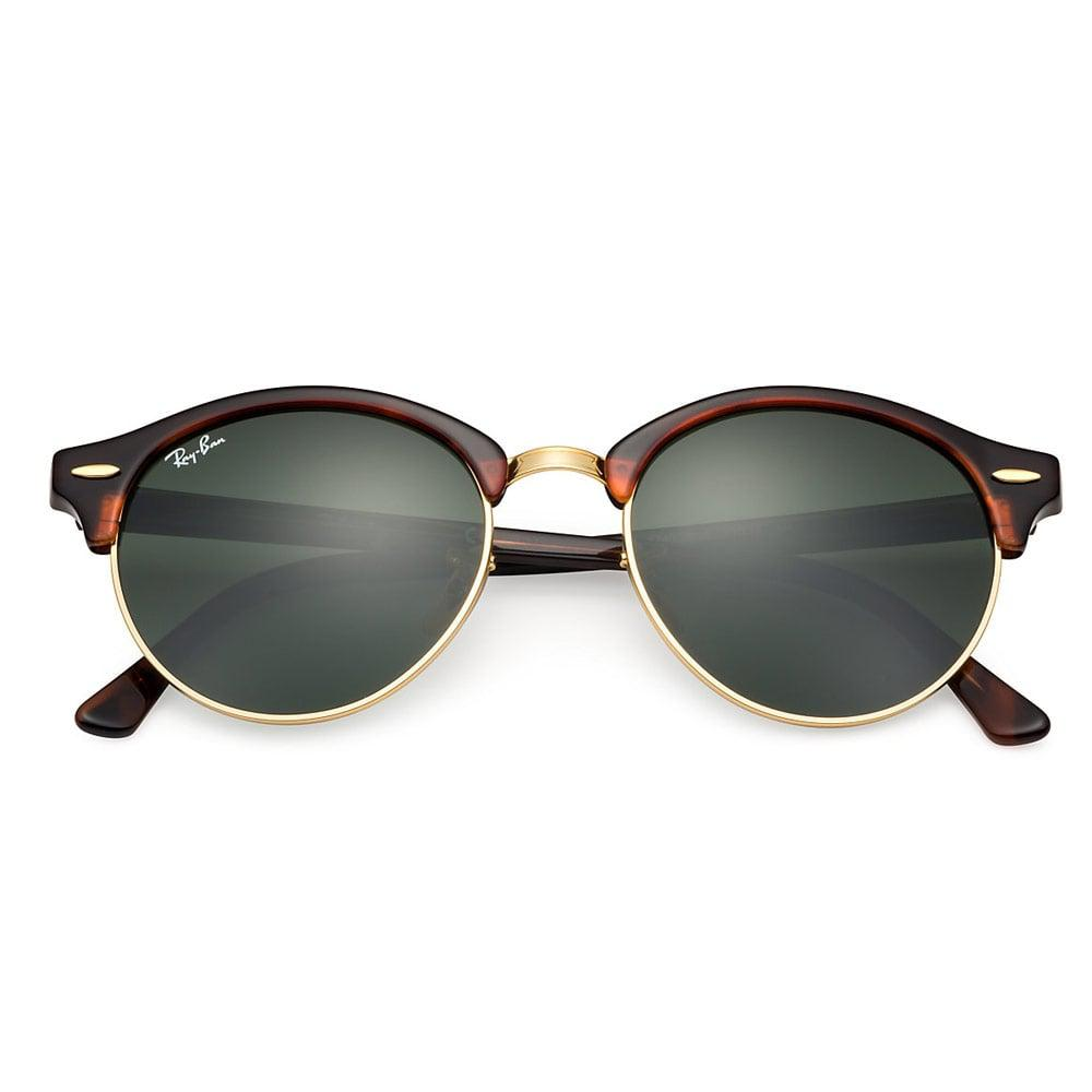 b90a7d1640 Ray-Ban - Multicolor Tortoise Clubround Classic Sunglasses - Green Classic G-15  Lenses. View fullscreen