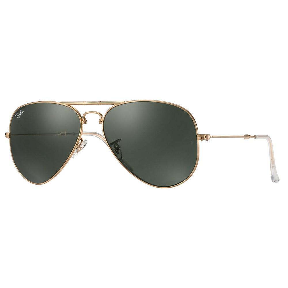 080a627eb36 Lyst - Ray-Ban Gold Aviator Folding Sunglasses - Green Classic G-15 ...