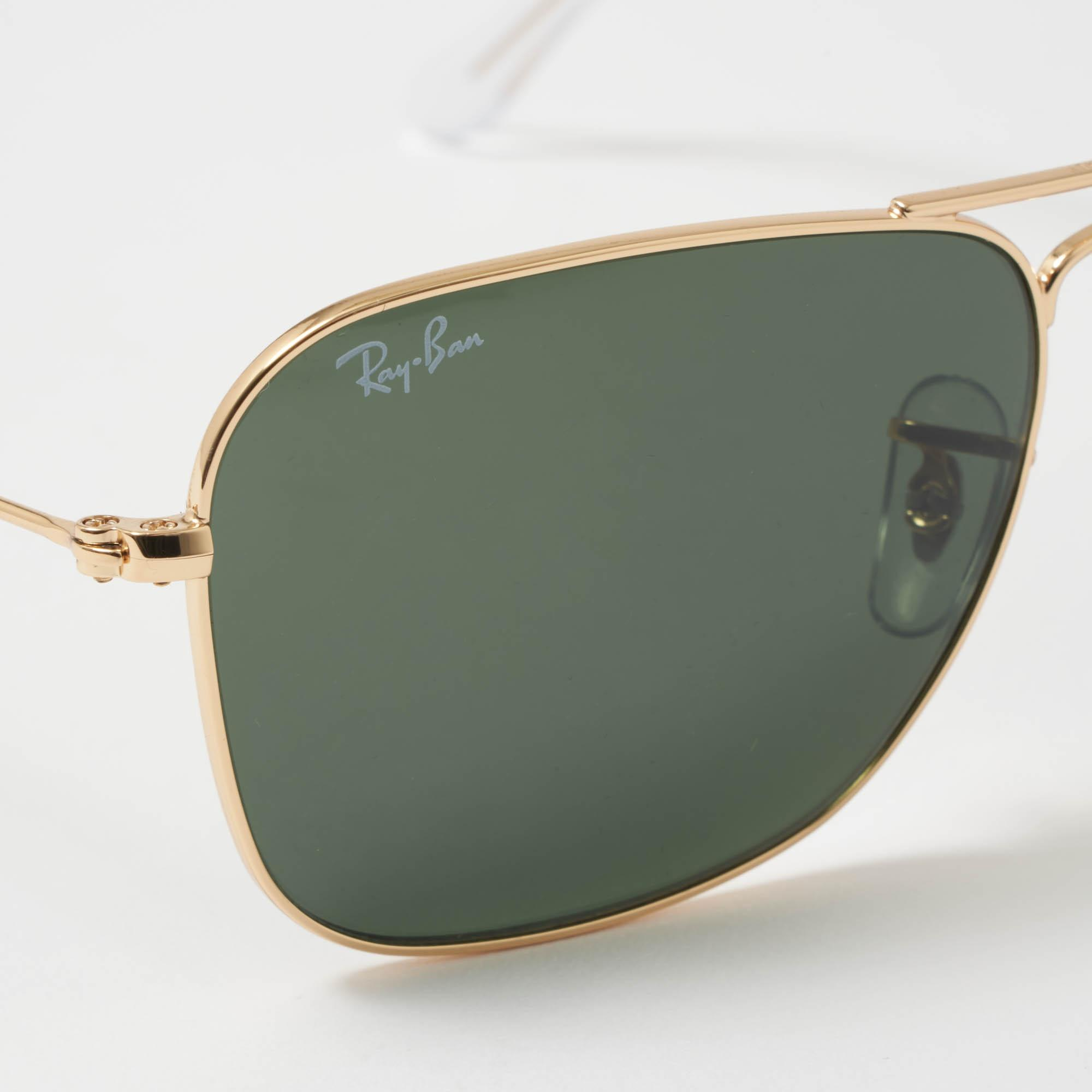 78a62c2d7e Ray-Ban - Metallic Gold Caravan Sunglasses - Green Classic G-15 Lenses for.  View fullscreen