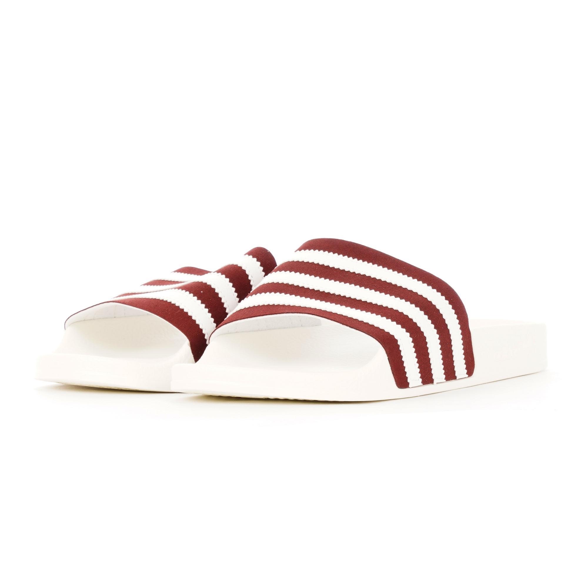 37976c24d Lyst - adidas Originals Adilette Slides - Collegiate Burgundy
