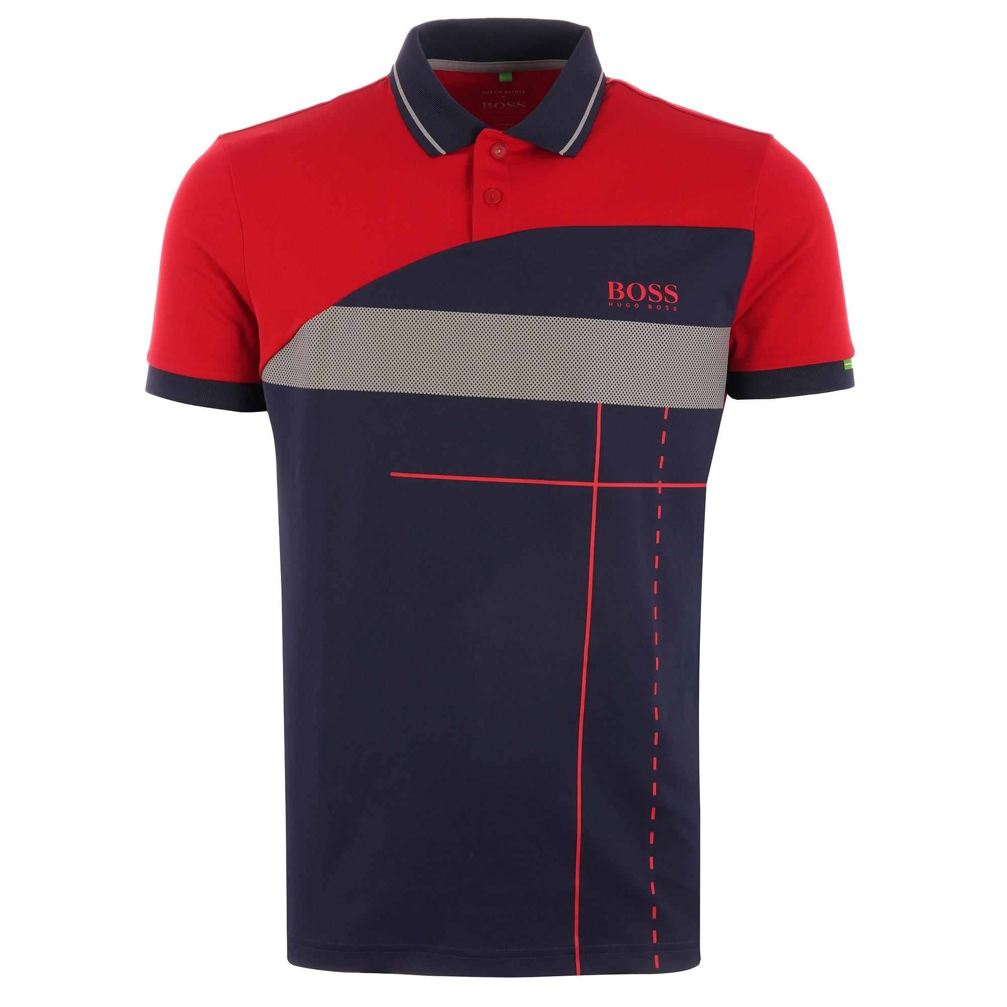 7effca576 BOSS Martin Kaymer Paddy Polo Shirt - Red in Red for Men - Save 40 ...