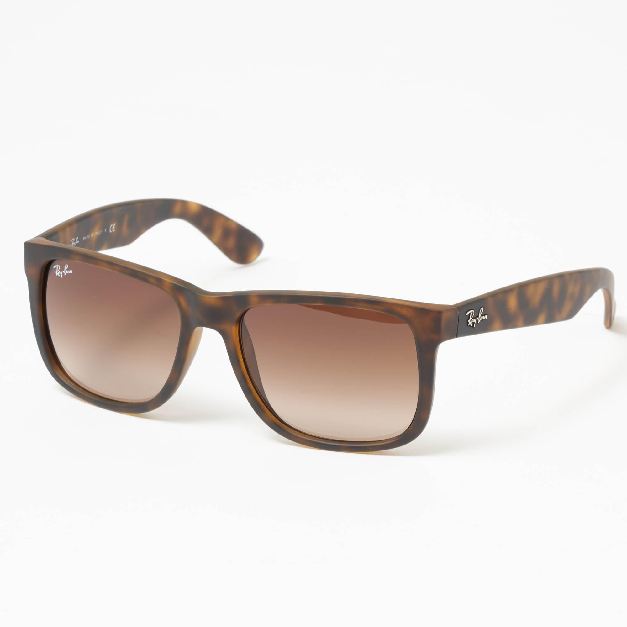 77d84ce206 Ray-Ban Tortoise Justin Sunglasses - Brown Gradient Lenses for Men ...