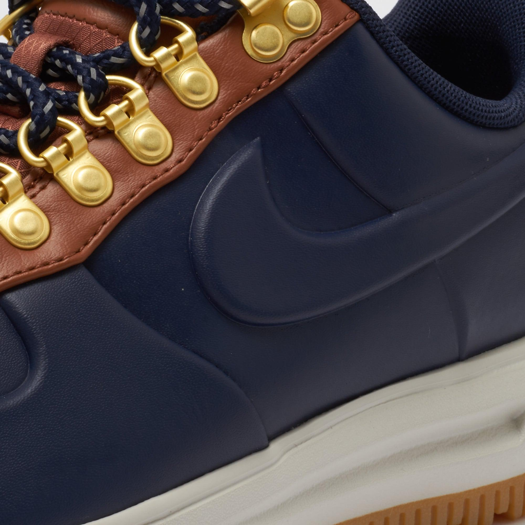 new york 7167e c85ff Nike Lunar Force 1 Duckboot Low - Obsidian  Saddle Brown in