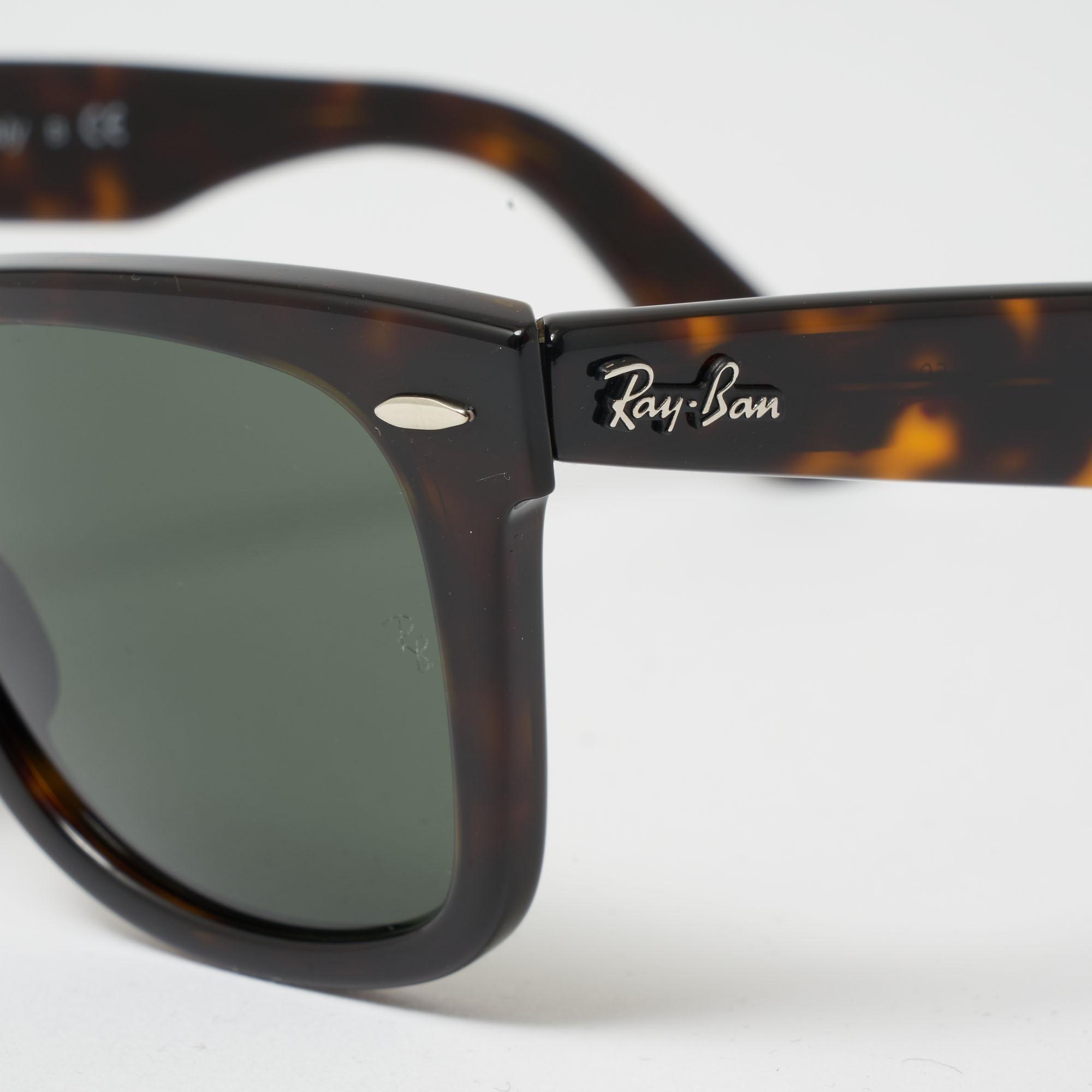 9bde99e91bb0f Ray-Ban - Multicolor Tortoise Original Wayfarer Classic Sunglasses - Green  Classic G-15. View fullscreen