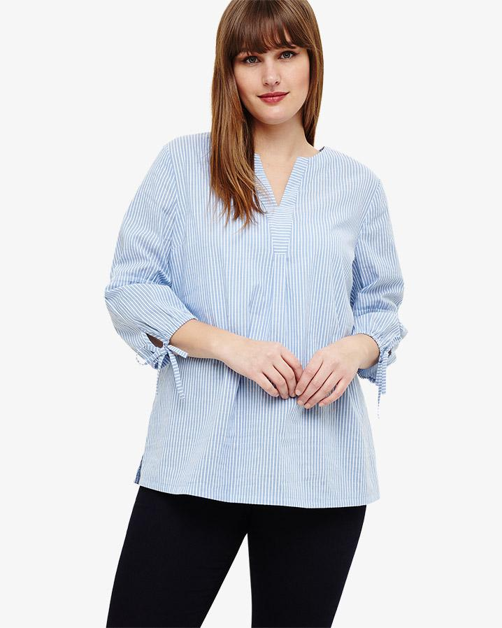 1d8dbb4f297af0 Lyst - Studio 8 Nelly Stripe Top in Blue