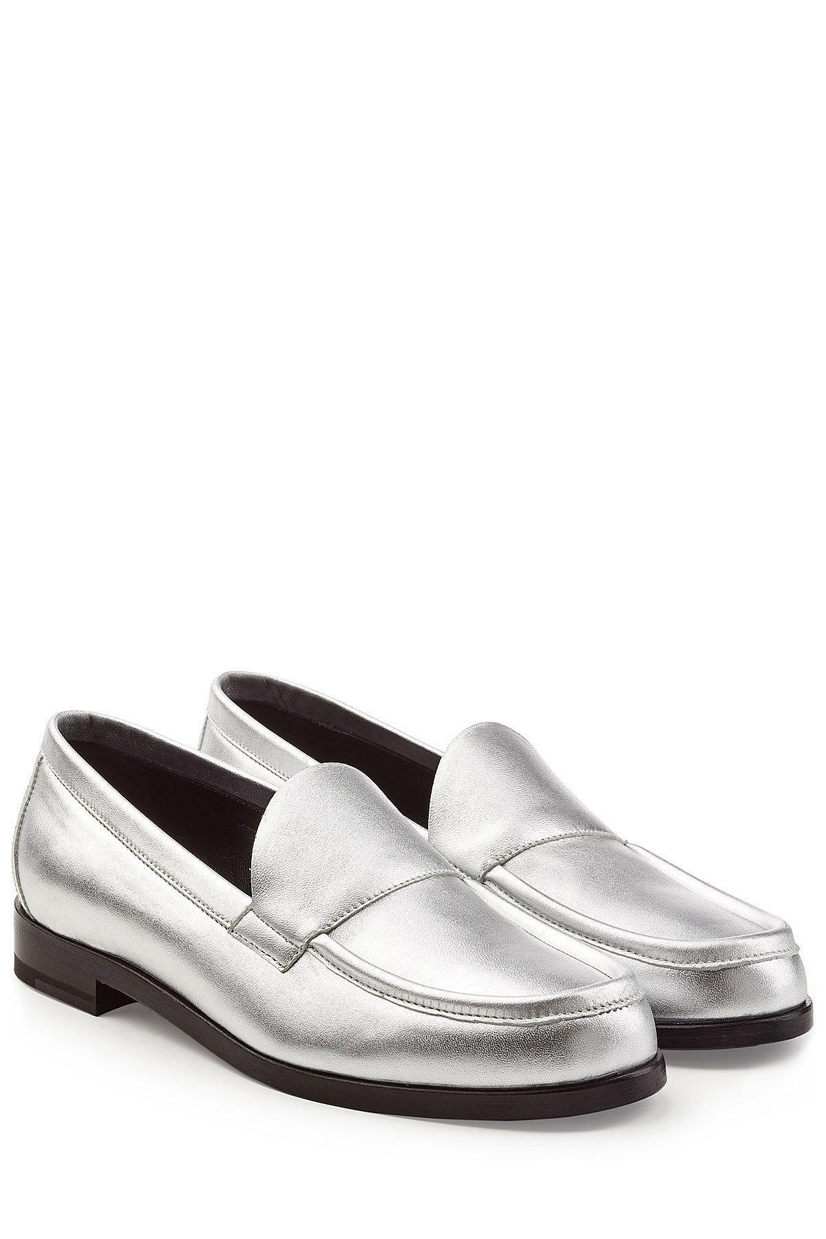52c22f3a038 Pierre Hardy. Women s Metallic Leather Loafers