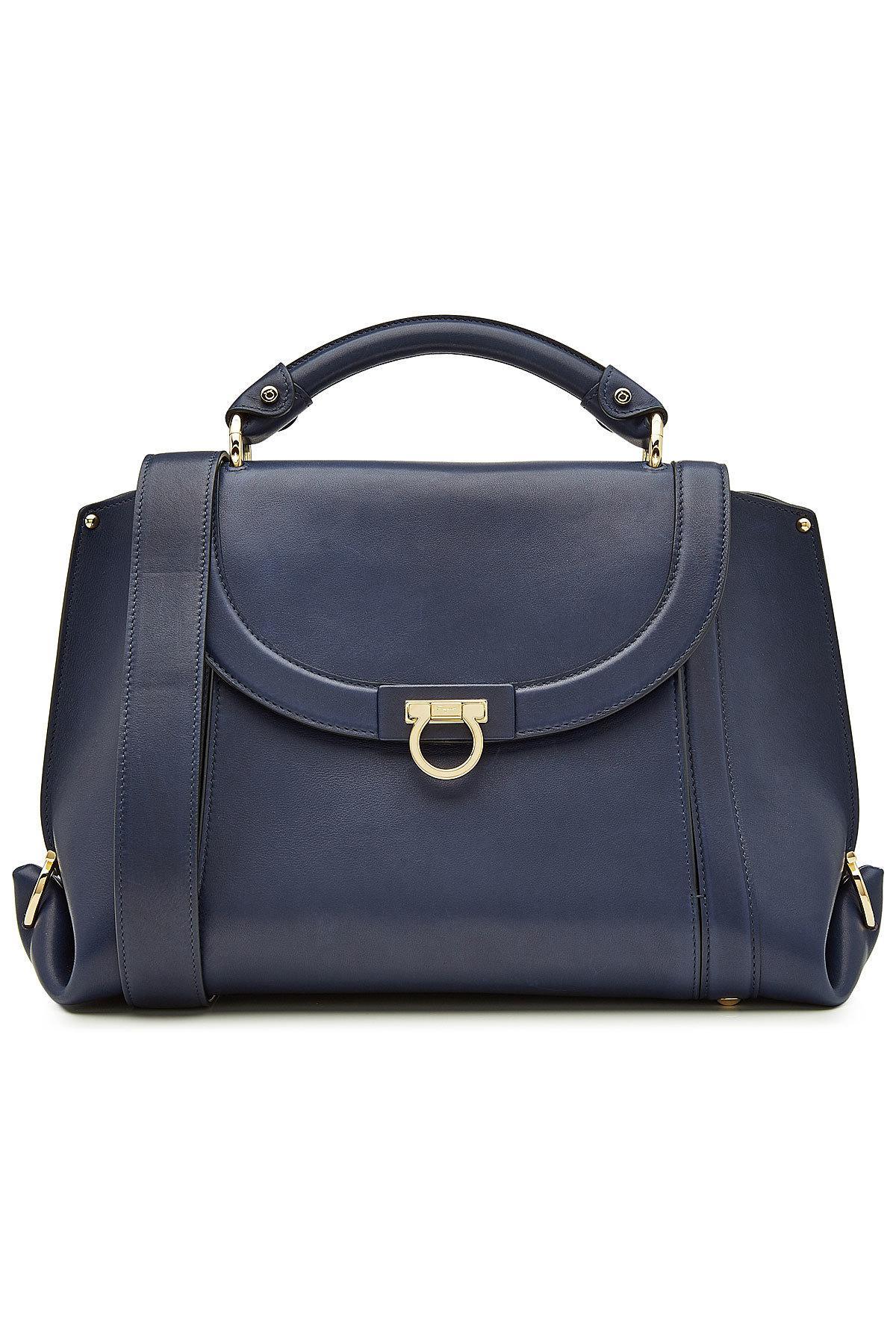 8f22c3ec53 Lyst - Ferragamo Leather Tote in Blue - Save 28%