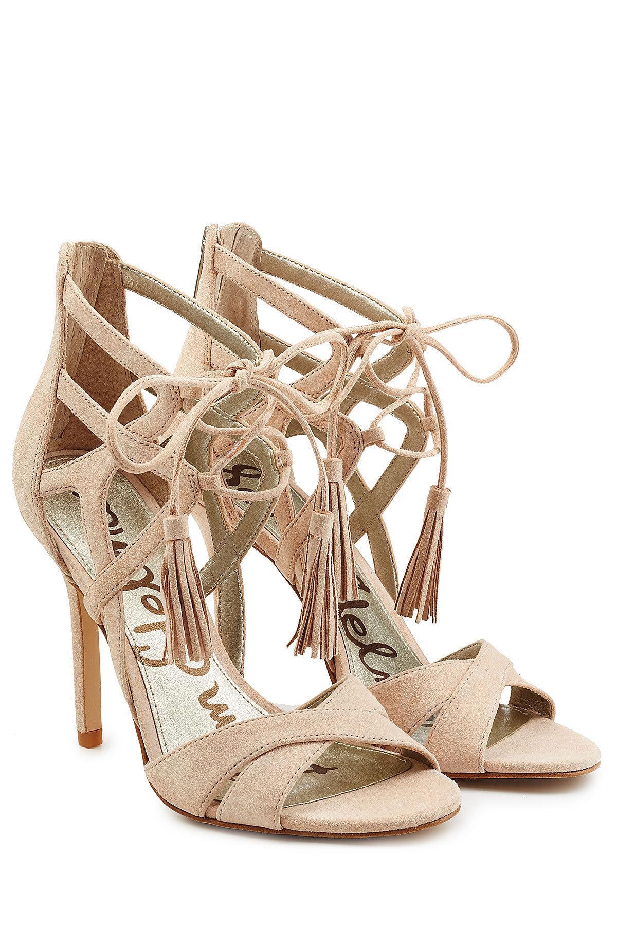 df6db7a8c Lyst - Sam Edelman Azela Suede Stiletto Sandals