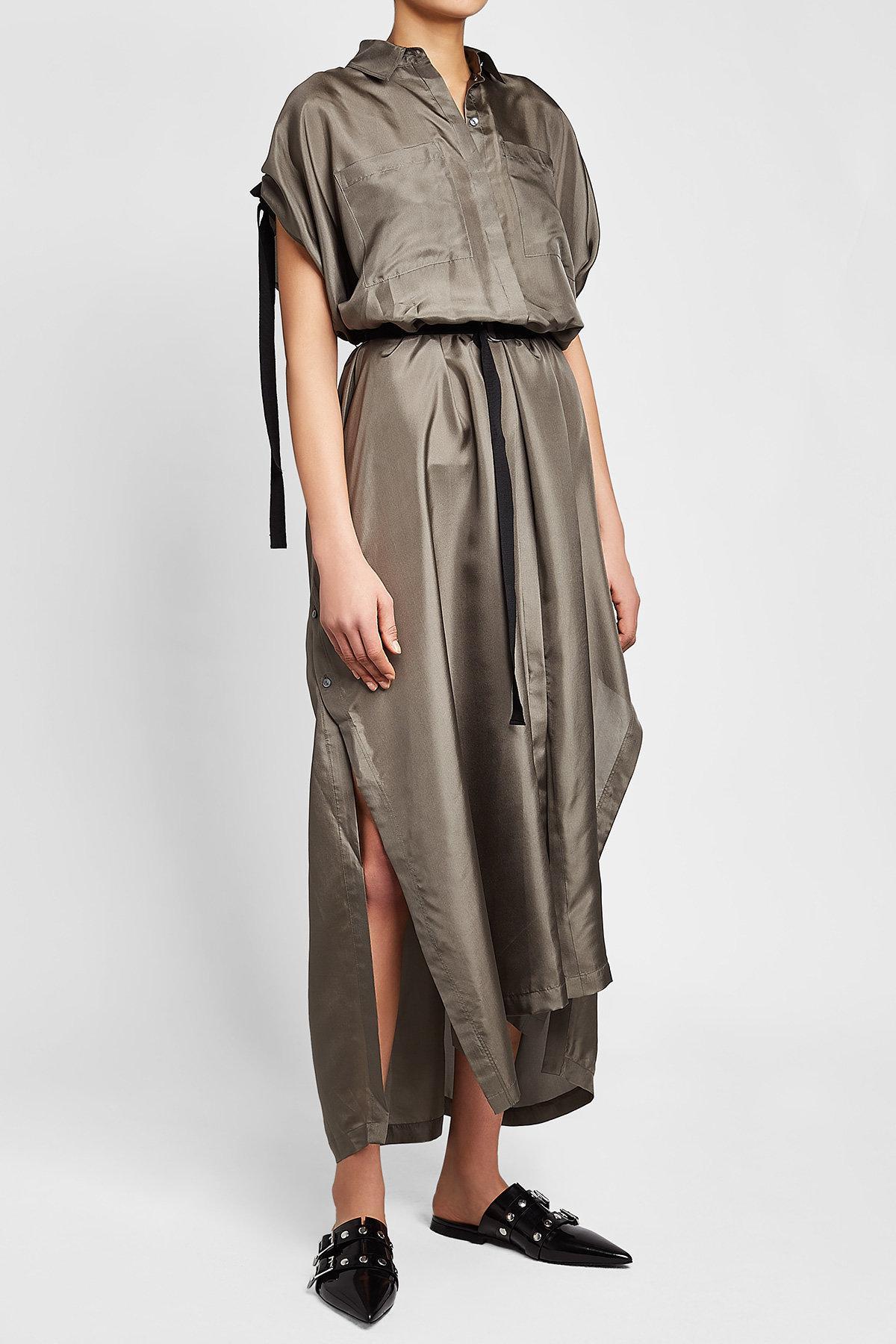 Silk Maxi Shirt Dress Karl Lagerfeld 6scMuMqH