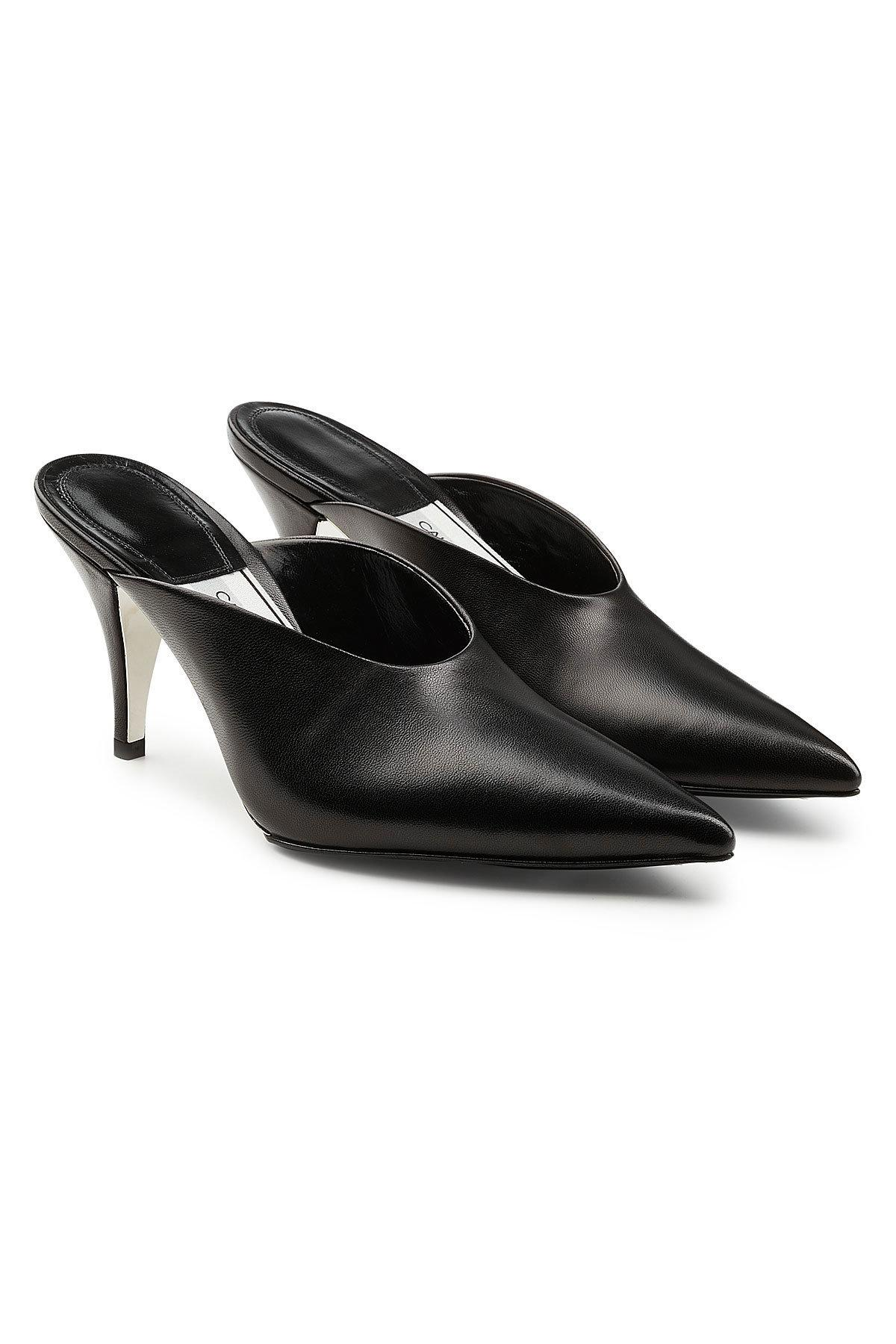 Get To Buy For Sale Discount Big Sale Calvin Klein Roslynn Leather Mules Cheap Extremely Low Price Fee Shipping Cheap Original rQvjox