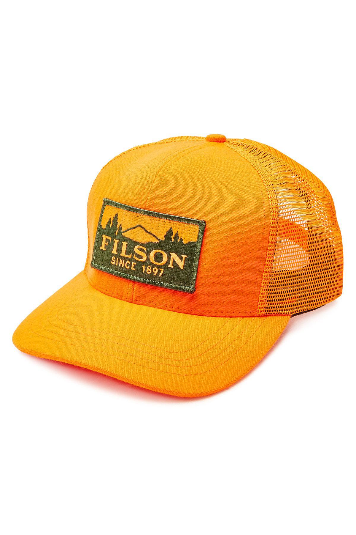 8675e5b8f52 Filson - Orange Logger Cotton Baseball Cap With Mesh for Men - Lyst. View  fullscreen