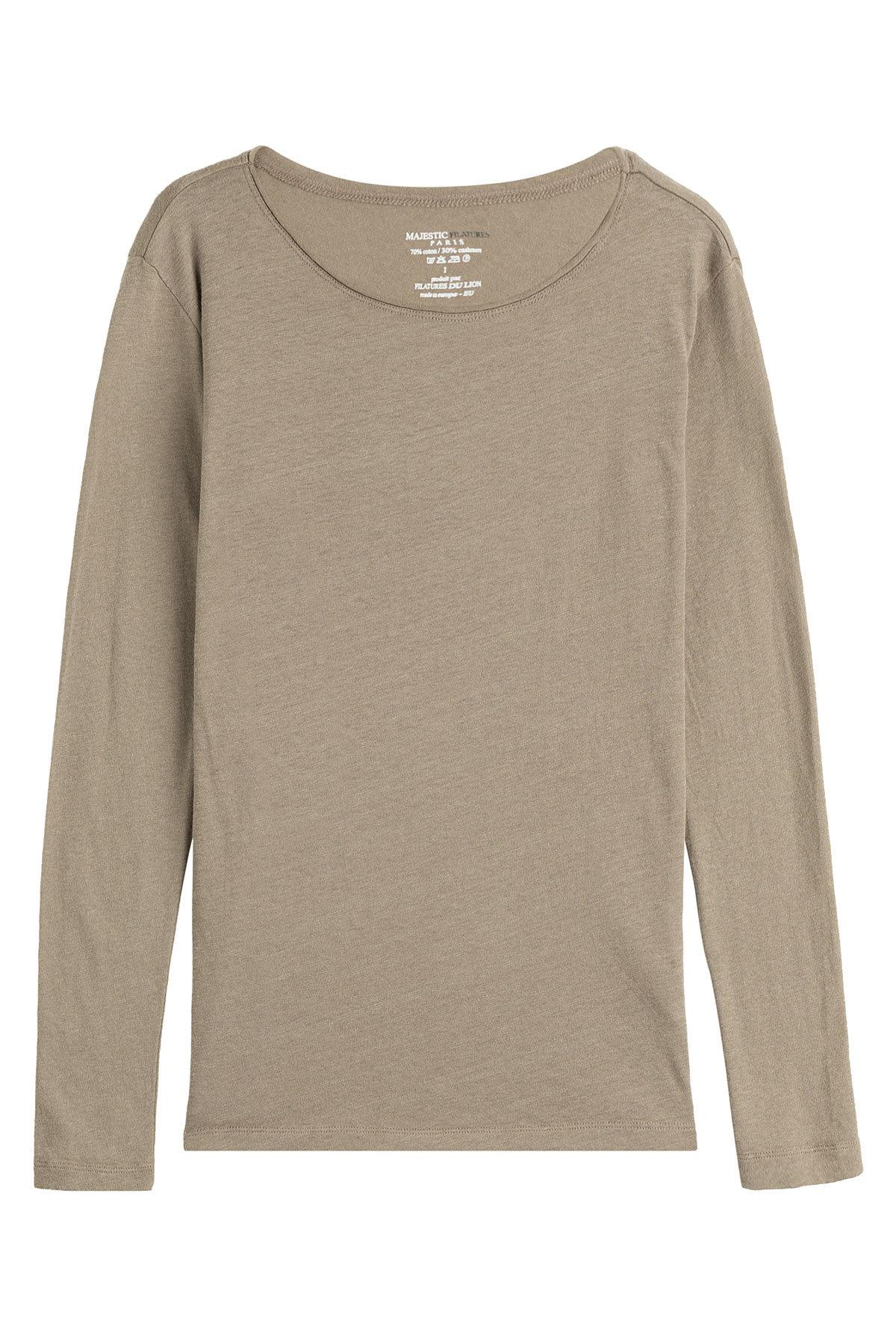 Lyst Majestic Filatures Cotton Cashmere Long Sleeved Top