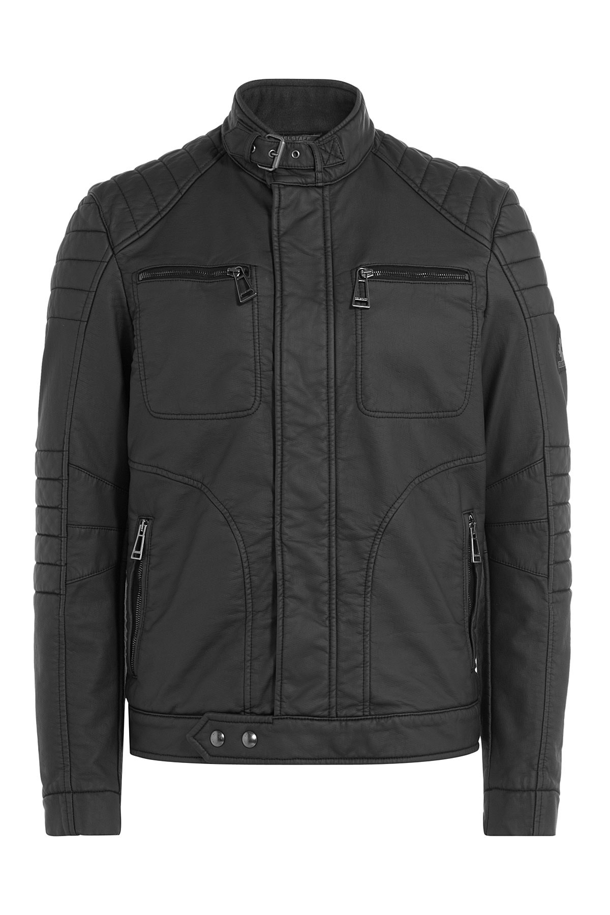 belstaff new weybridge coated cotton jacket black in. Black Bedroom Furniture Sets. Home Design Ideas