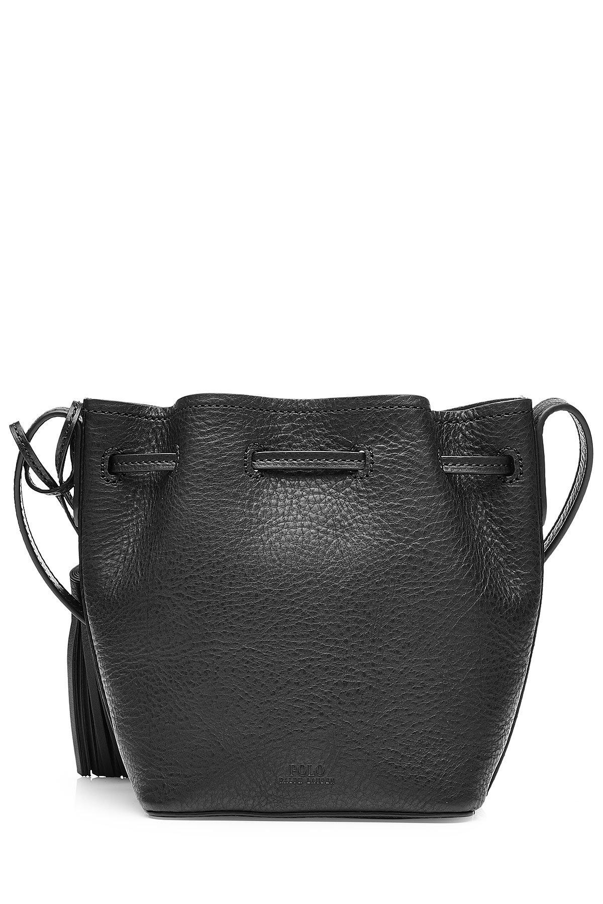 Lyst - Polo Ralph Lauren Bucket Shoulder Bag With Tassels In Black