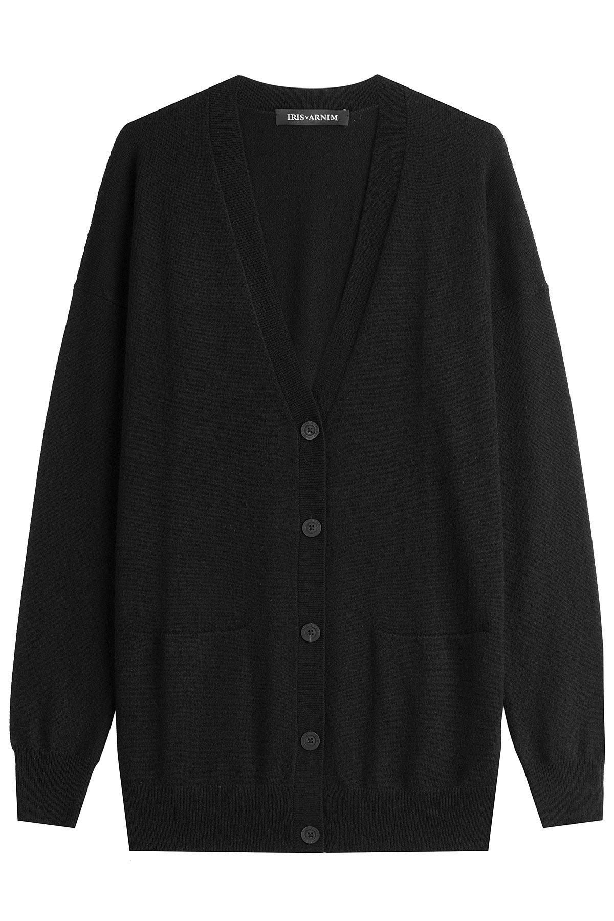 iris von arnim cashmere cardigan in black lyst. Black Bedroom Furniture Sets. Home Design Ideas