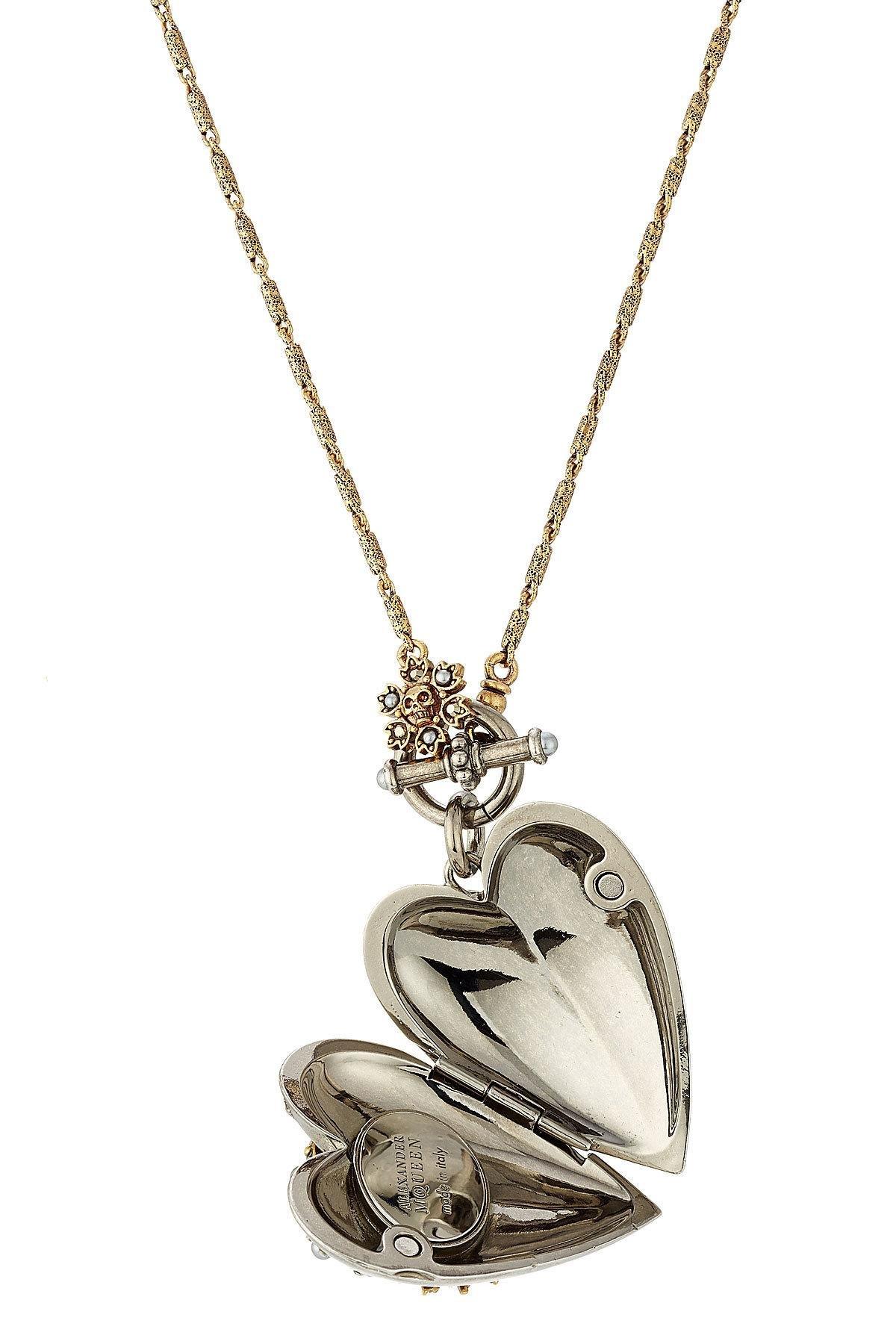alexander mcqueen heart charm necklace lyst