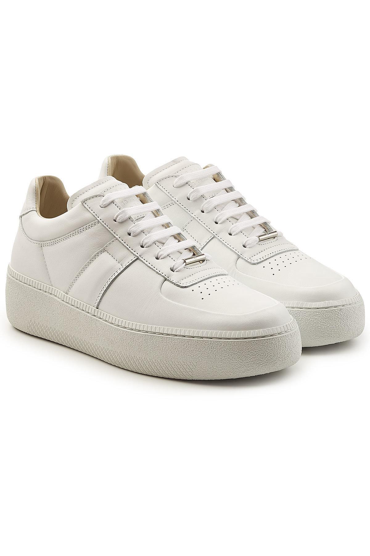 Mens Platform-Sole Leather Sneakers Maison Martin Margiela Sj5UCU9q