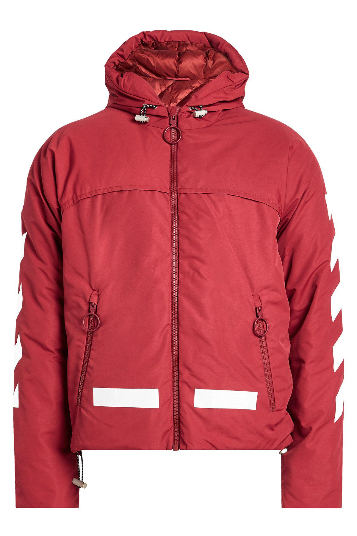 53c81c3fb952 Off-White c o Virgil Abloh Down Jacket With Hood in Red for Men - Lyst