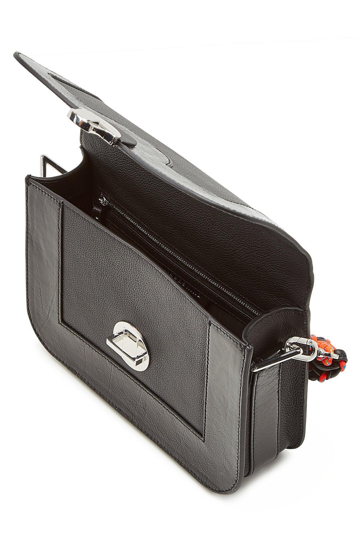 e7ae16f02 Liebeskind Berlin - Black Clasp M Leather Crossbody Bag - Lyst. View  fullscreen