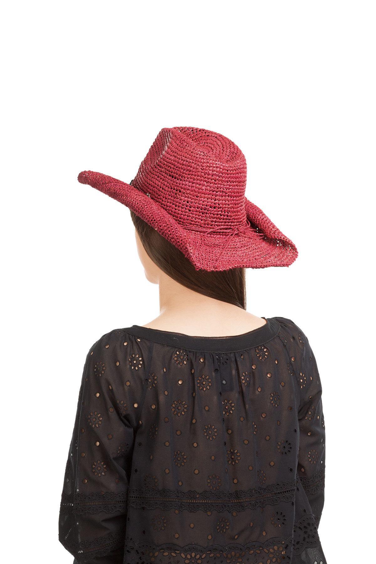 Florabella Raffia Hat in Pink - Lyst 0c413636aa3e