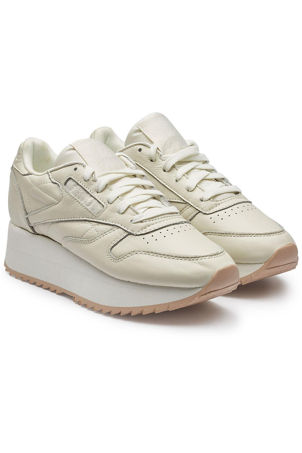 973c02d98c2613 Reebok Classic Leather Double Platform Sneakers - Lyst