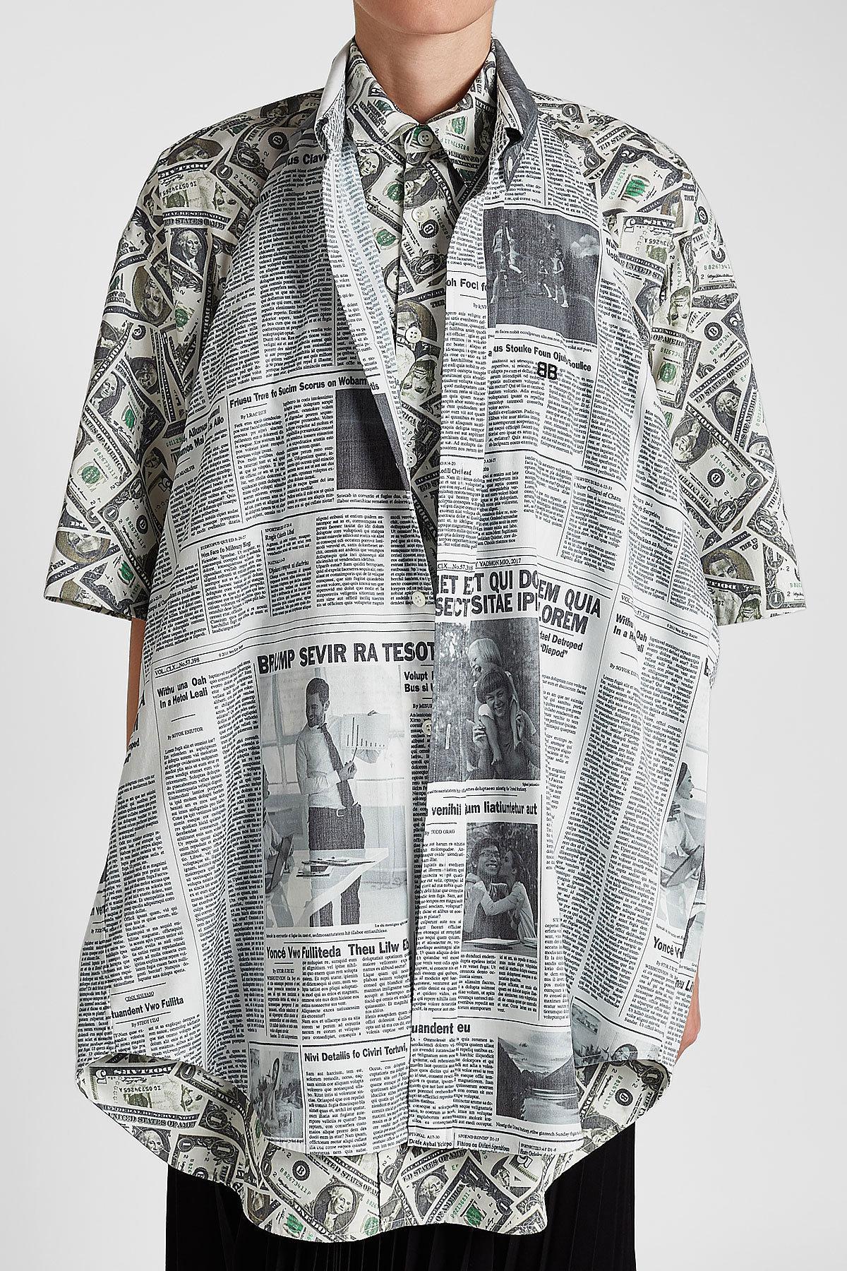 c1f8cf37 Balenciaga Printed Double Shirt - Lyst