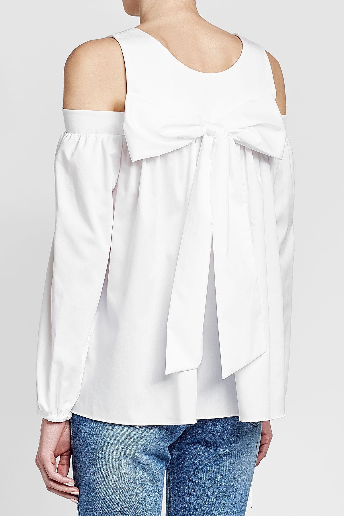 af4cfe0d2dc SJYP - White Off-shoulder Cotton Blouse - Lyst. View fullscreen