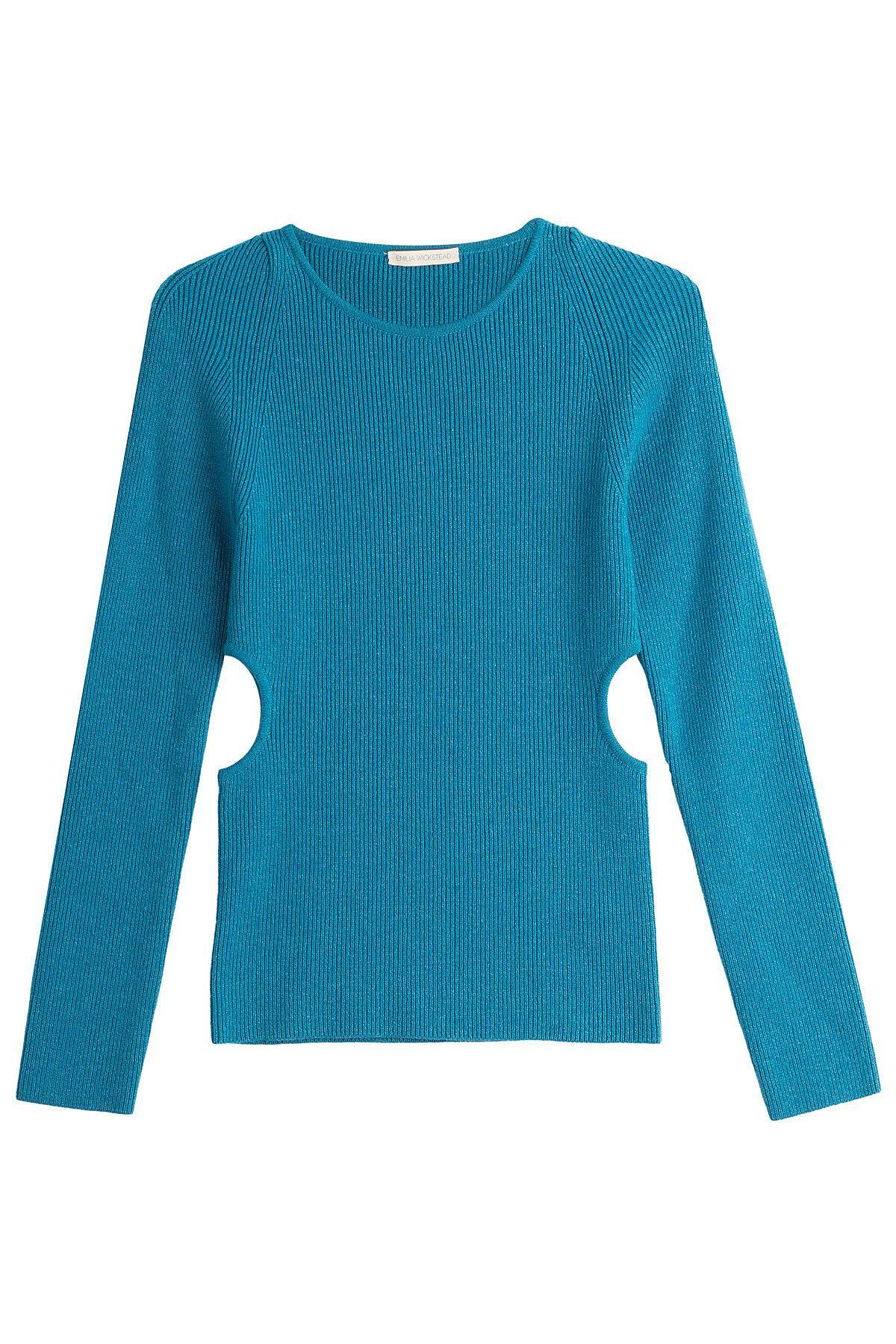 Sale Low Price Low Cost Online side cut out jumper - Blue Emilia Wickstead dJN0QoSF