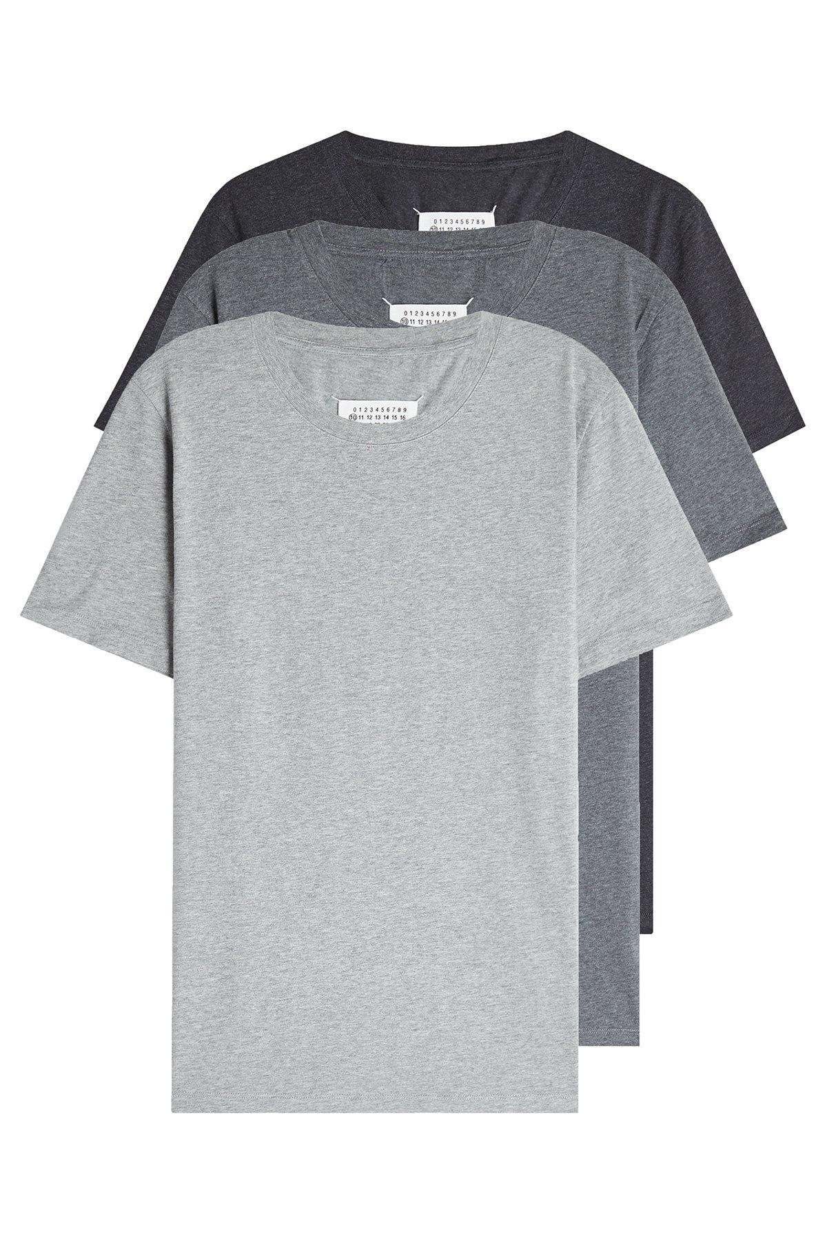 189d98e66764 Lyst - Maison Margiela Pack Of 3 Cotton T-shirts for Men