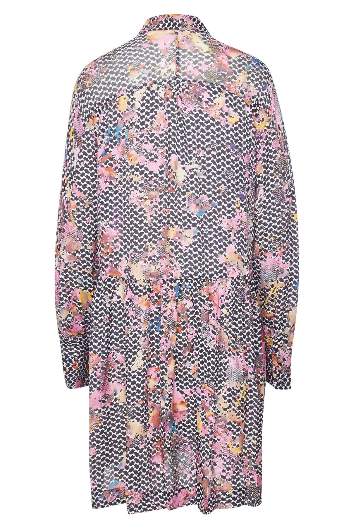 Lala Berlin Sia Printed Dress With Silk Lyst