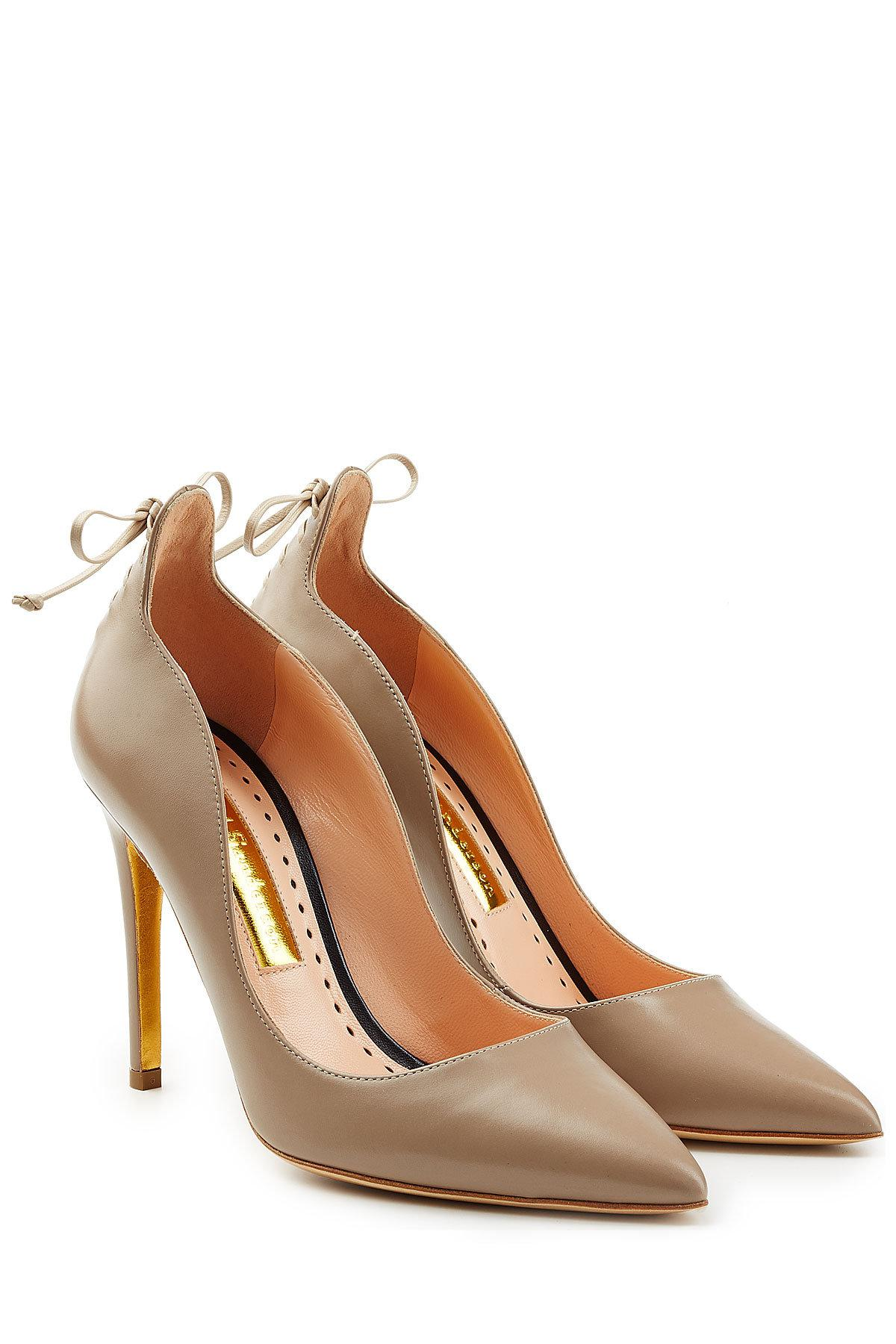 Rupert Sanderson Lace-Up d'Orsay Pumps with credit card iJ7Z7XI