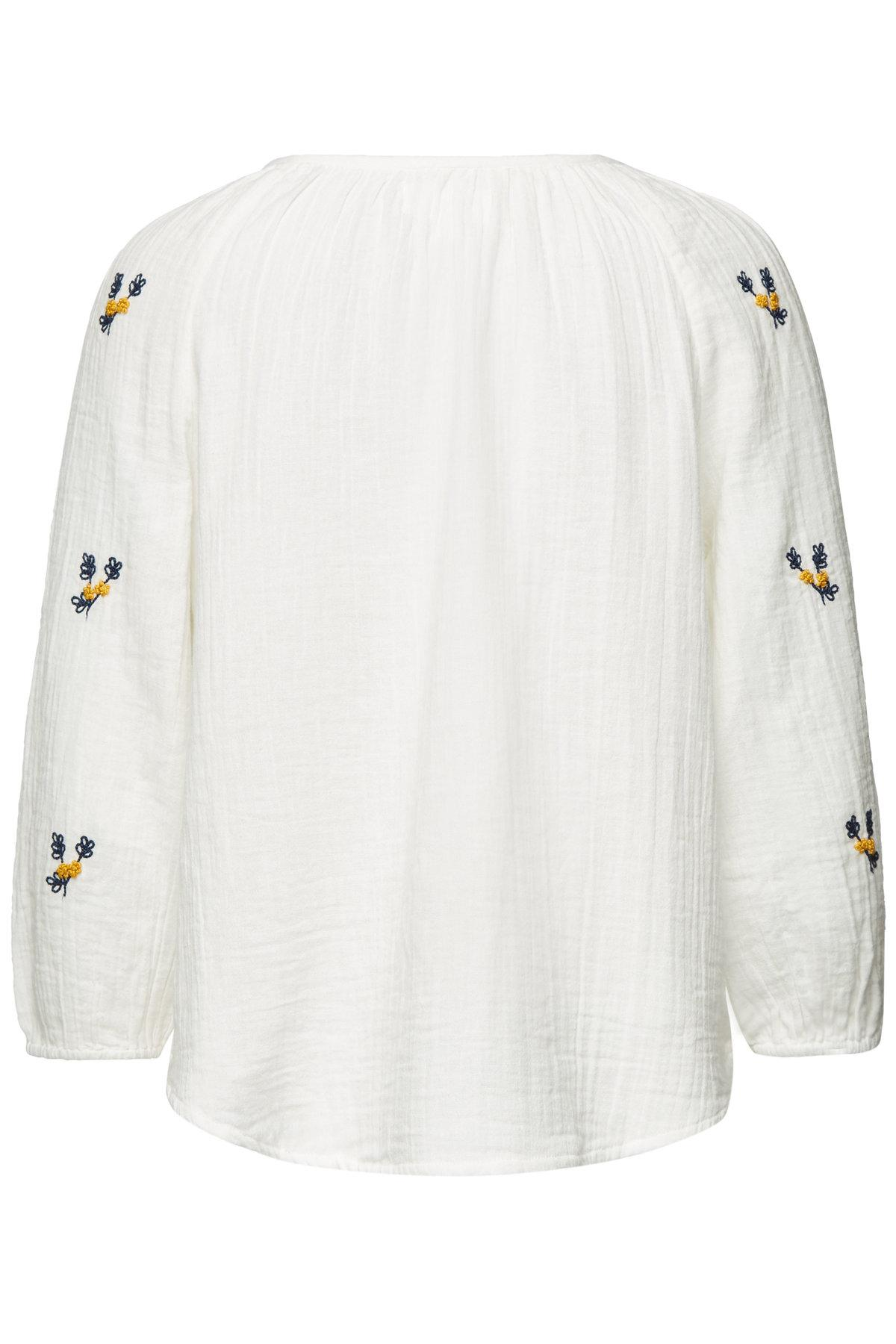 Velvet White Selma Top Lyst In Embroidered Cotton F13JTclK