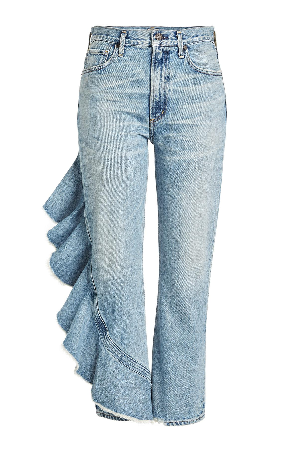 Citizens Of Beauty: Citizens Of Humanity Cropped Jeans With Ruffle Trim