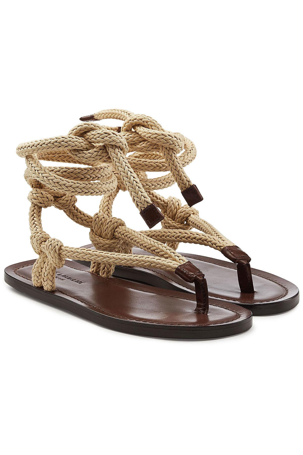 6c016e86db4d70 Lyst saint laurent rope sandals with leather for men jpg 1200x1800 His rope  sandals