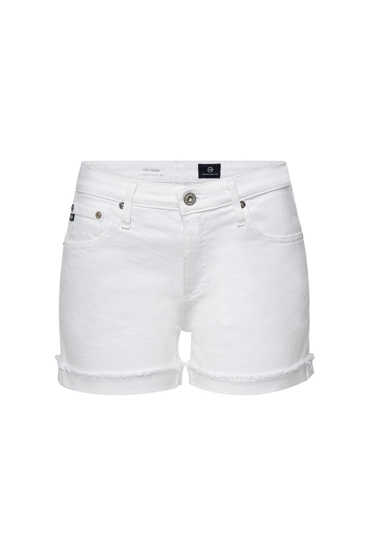 22cca13756 Ag Jeans Hailey Denim Shorts in Blue - Lyst