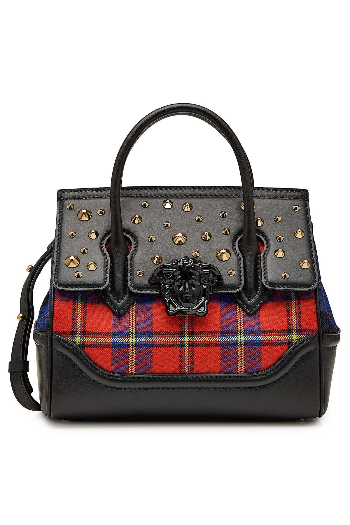 90cf495621 Versace Palazzo Empire Leather Handbag - Lyst