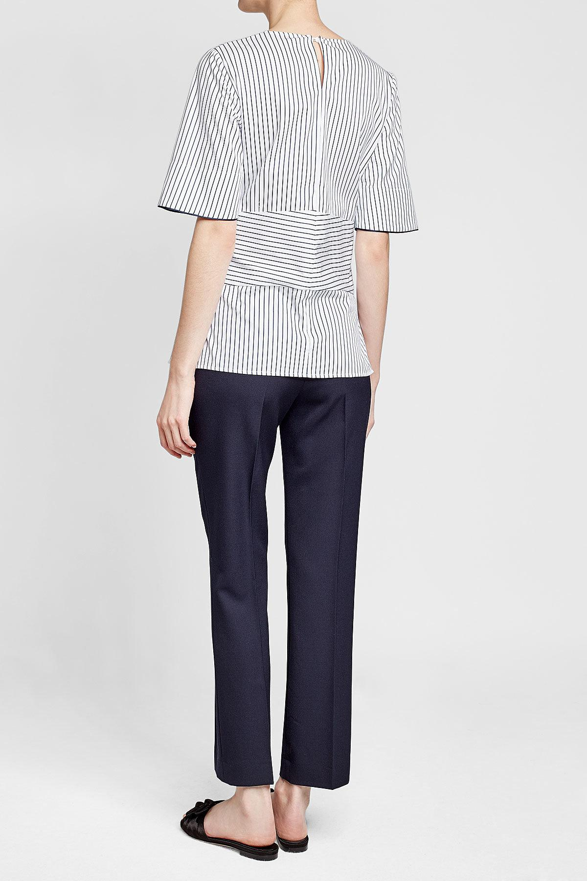 c561c58dd84a5b ... Victoria Beckham - Multicolor Striped Top With Tie - Lyst. View  fullscreen