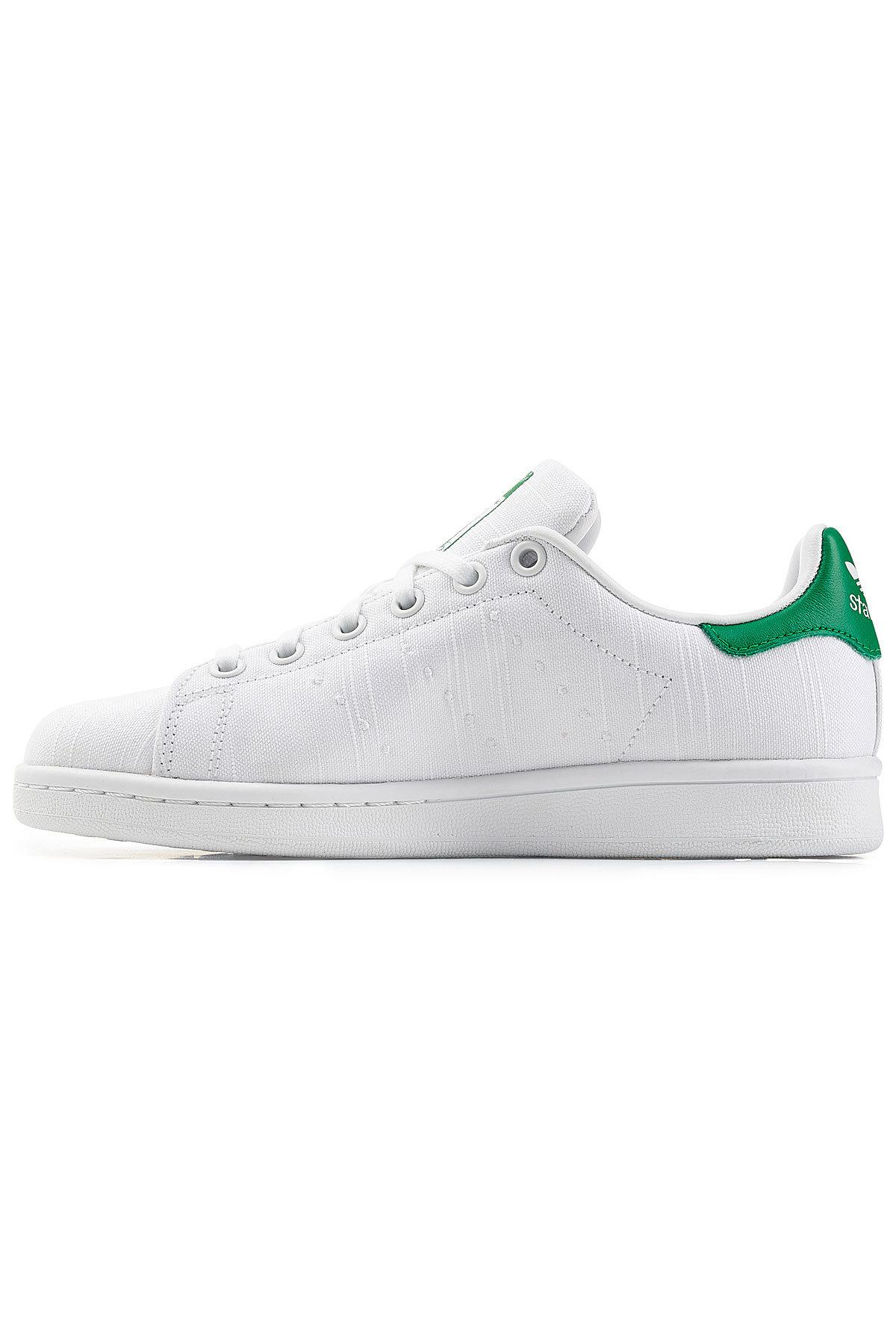 3f9e168e61392 Lyst - adidas Originals Stan Smith Embroidered Canvas Sneakers in White