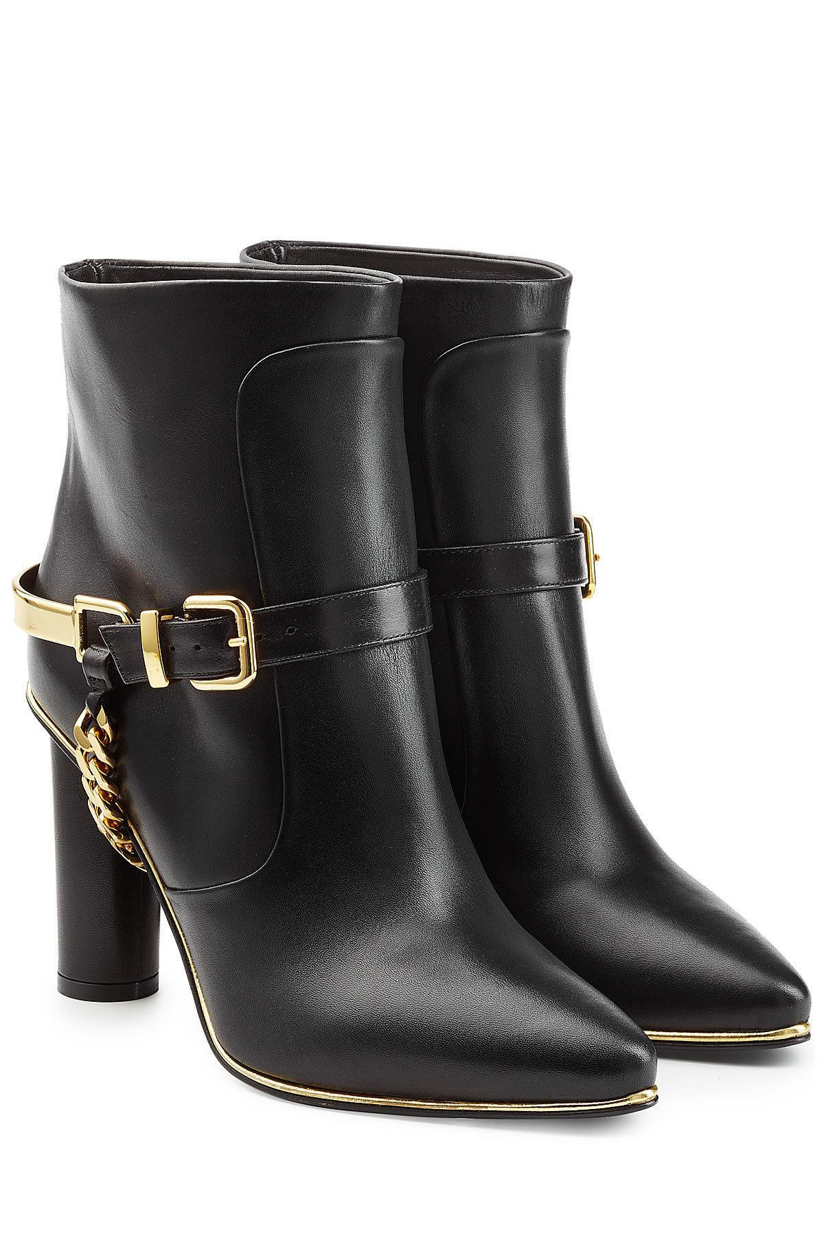 chain-embellished boots - Black Balmain