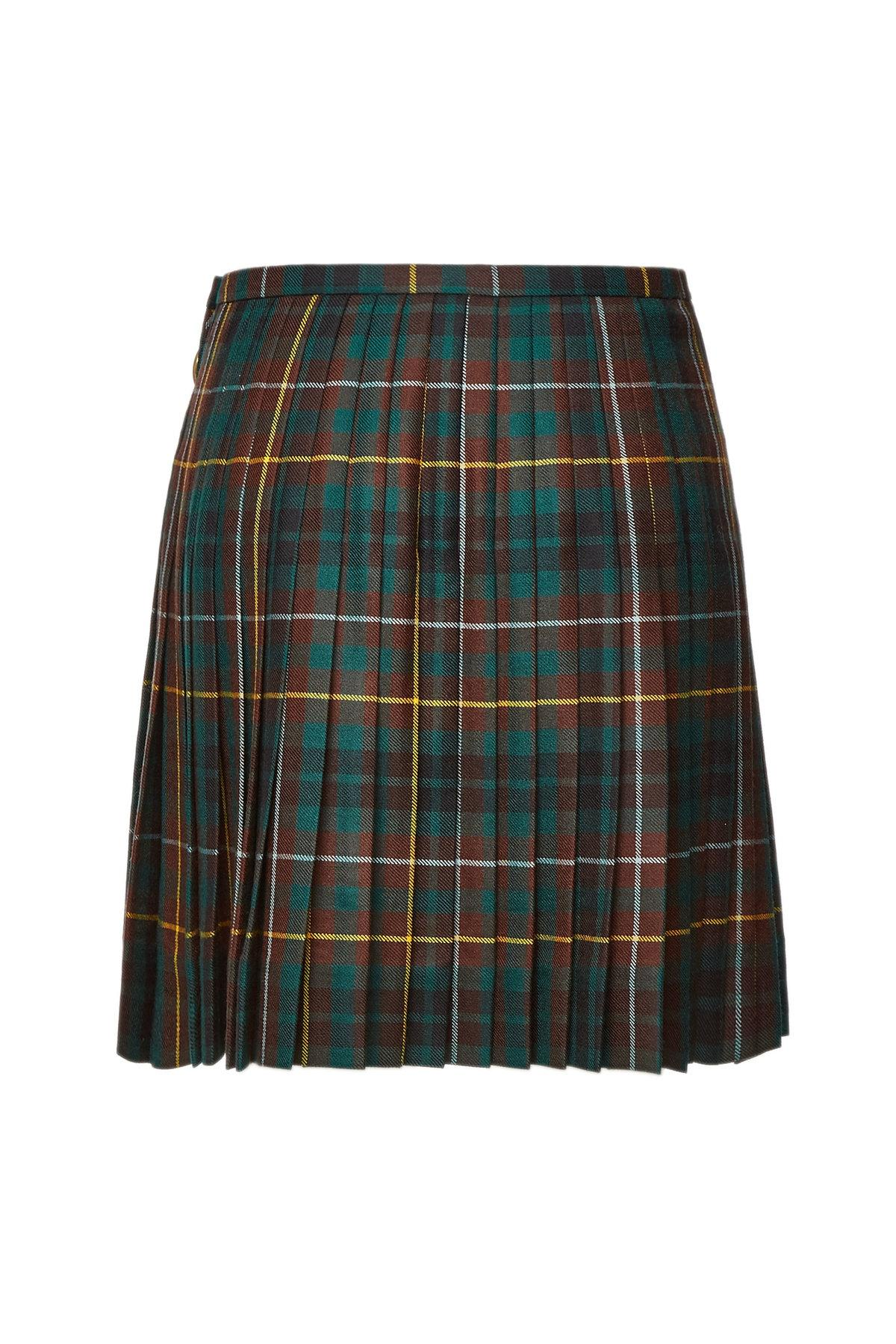 2d809454b Burberry - Multicolor Adige Checked Wool Skirt - Lyst. View fullscreen