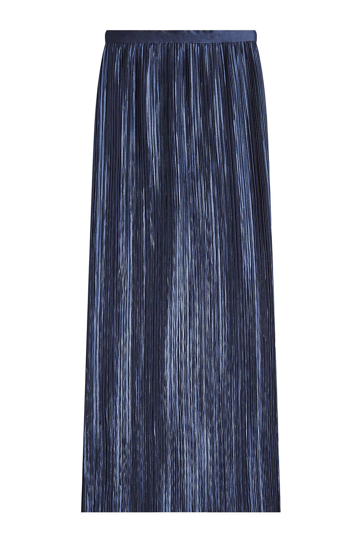 fc32f0f327 Tibi Plisse Pleated Skirt in Blue - Lyst