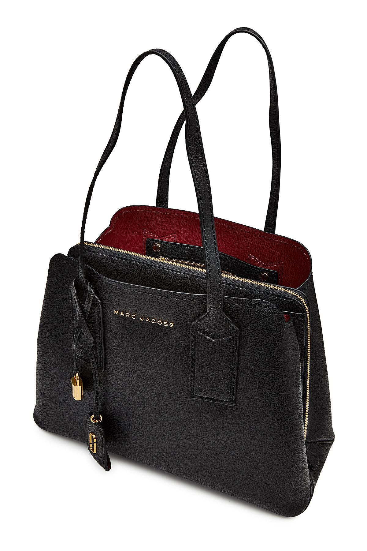 Lyst - Sac à main en cuir The Editor Marc Jacobs en coloris Noir 1173fadc700d