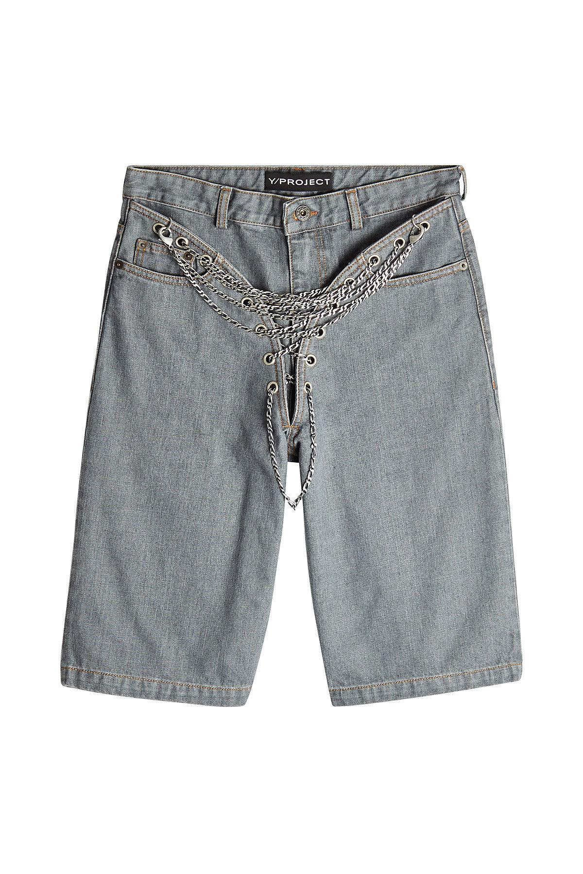 Looking For Sale Sale Online chain detail denim short - Grey Y / Project Cheap Sale Websites Outlet Best Place For Sale Online 6ZRTVyai