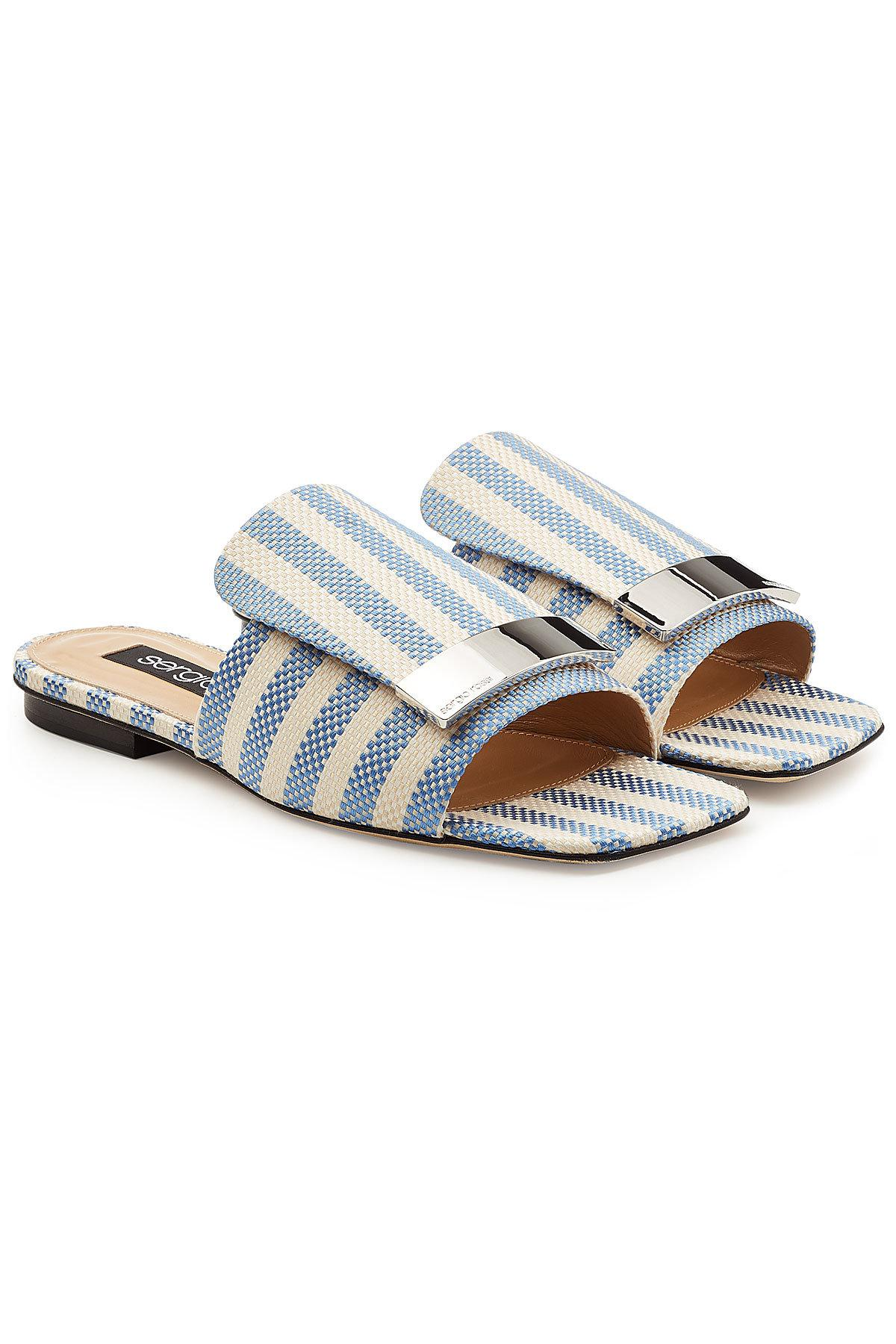 Sergio Rossi Sandals A80380 textile Metal buckle beige isbsgN