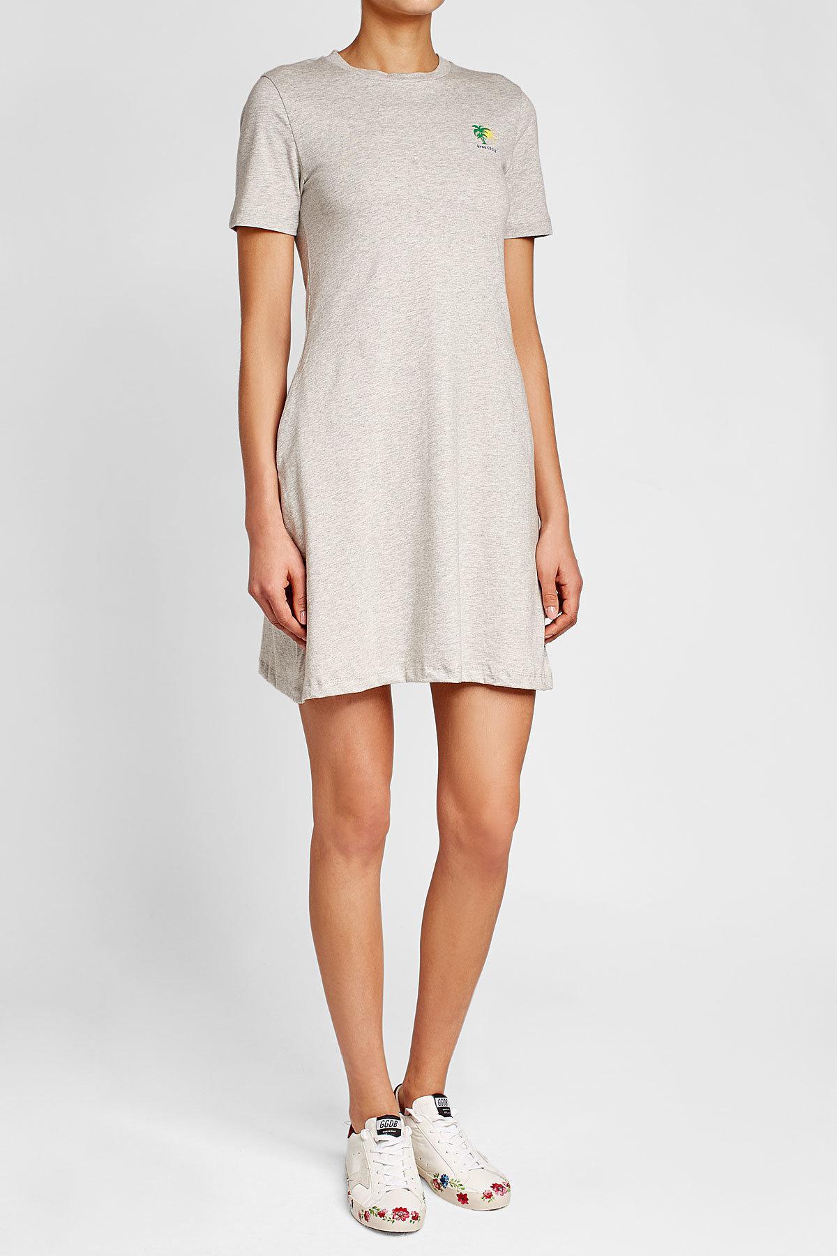 Être cécile Cotton T-shirt Dress in White | Lyst