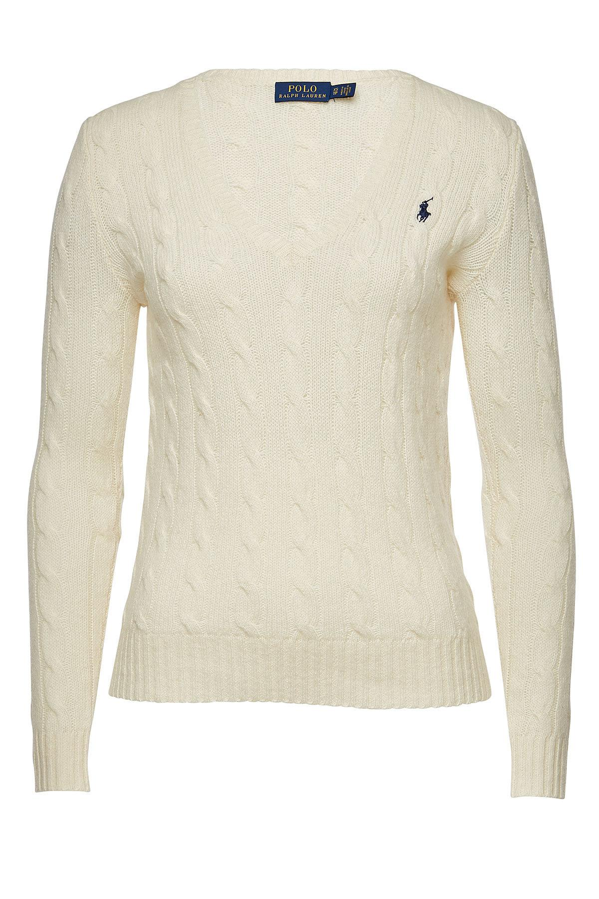 40d888f34355ee Polo Ralph Lauren - Natural Kimberly Merino Wool Pullover With Cashmere -  Lyst. View fullscreen
