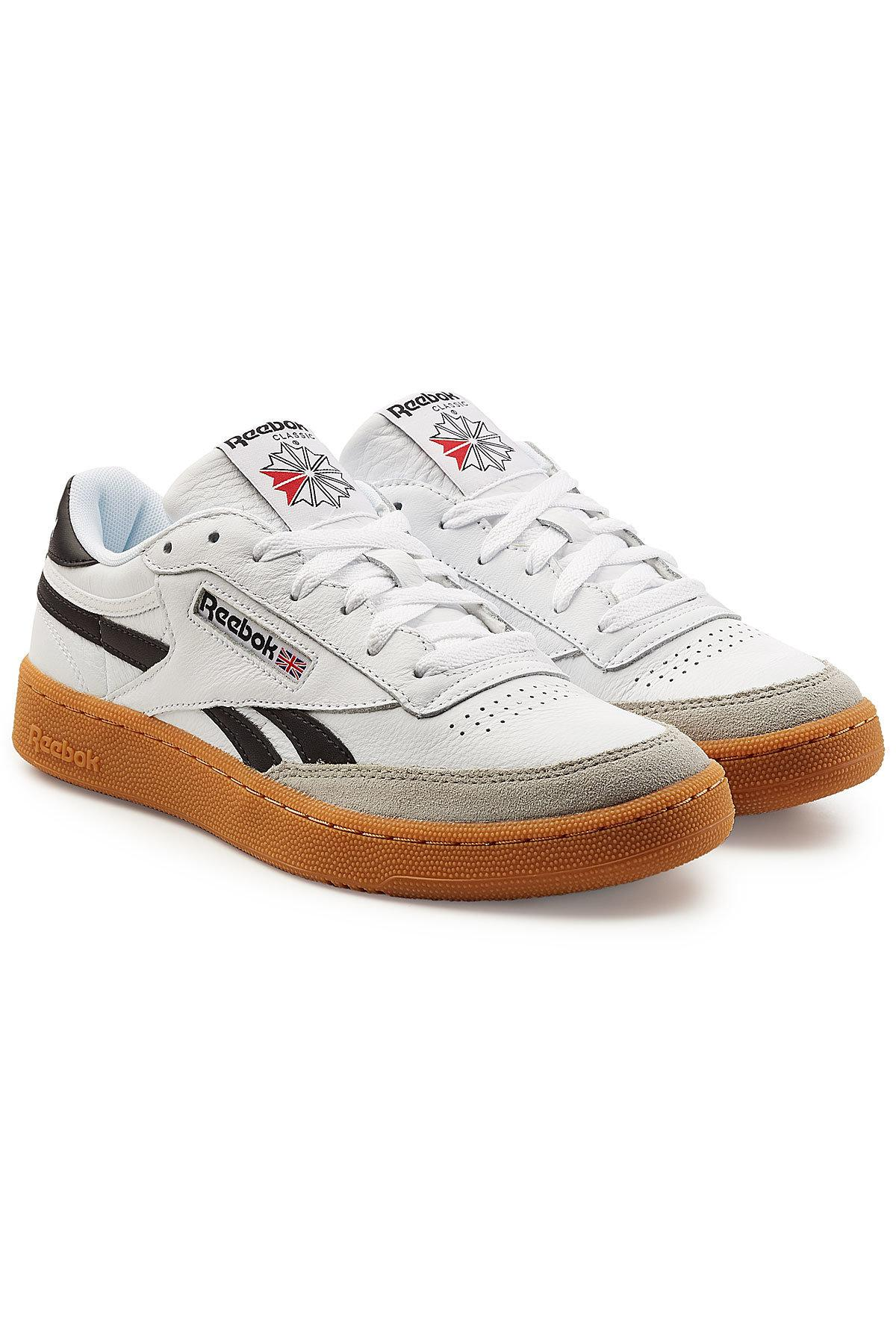 b474bc54fdea5 Reebok Revenge Plus Gum Leather And Suede Sneakers in White for Men ...