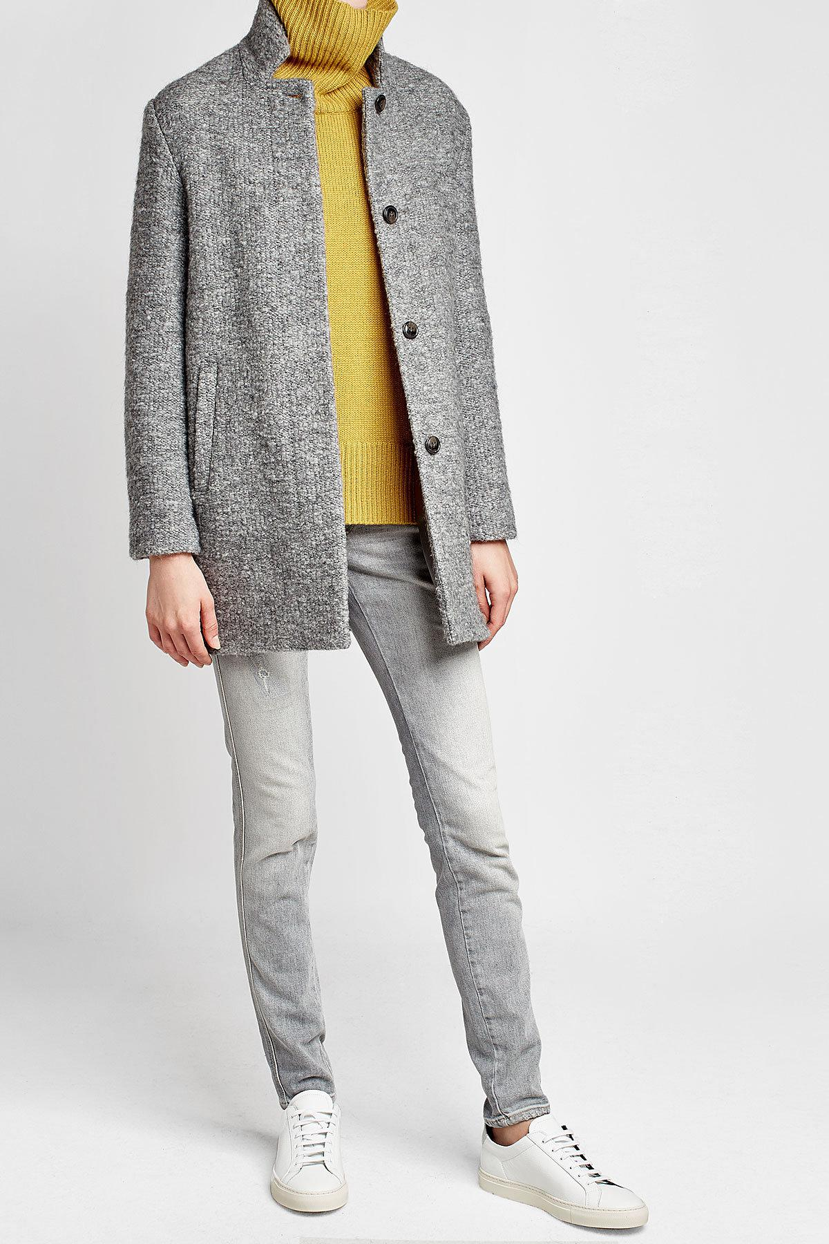 Closed Coat With Mohair And Virgin Wool in Gray for Men | Lyst